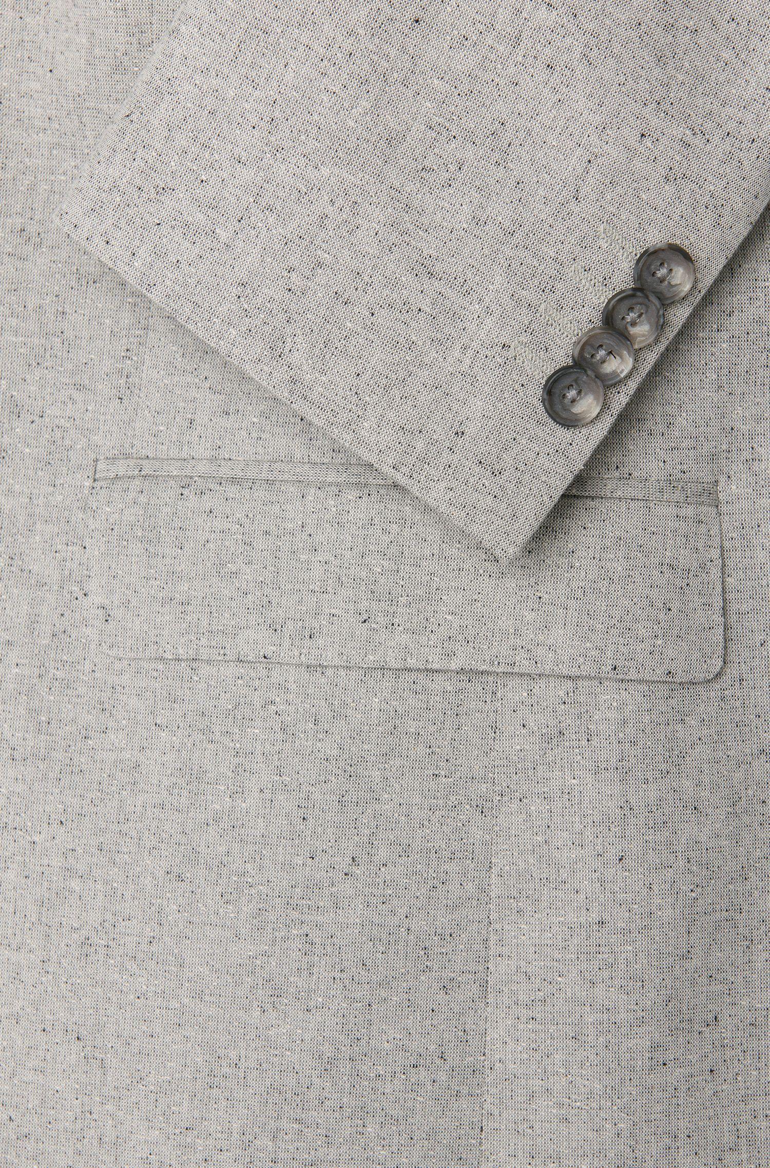 Costume Slim Fit finement chiné en coton mélangé à de la soie: «Novan3/Ben»