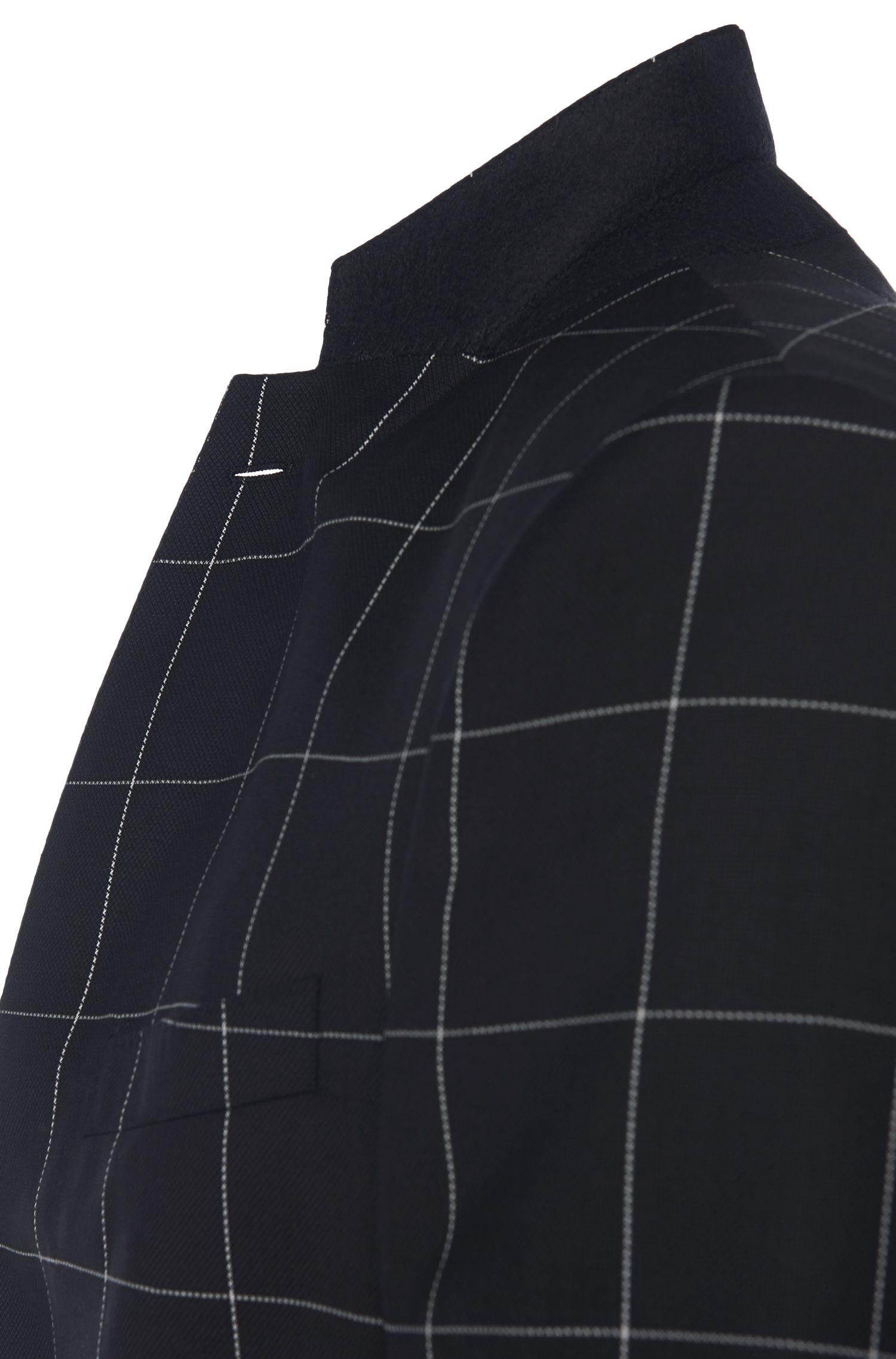 Costume Slim Fit à carreaux, en laine vierge: «Novan3/Ben»