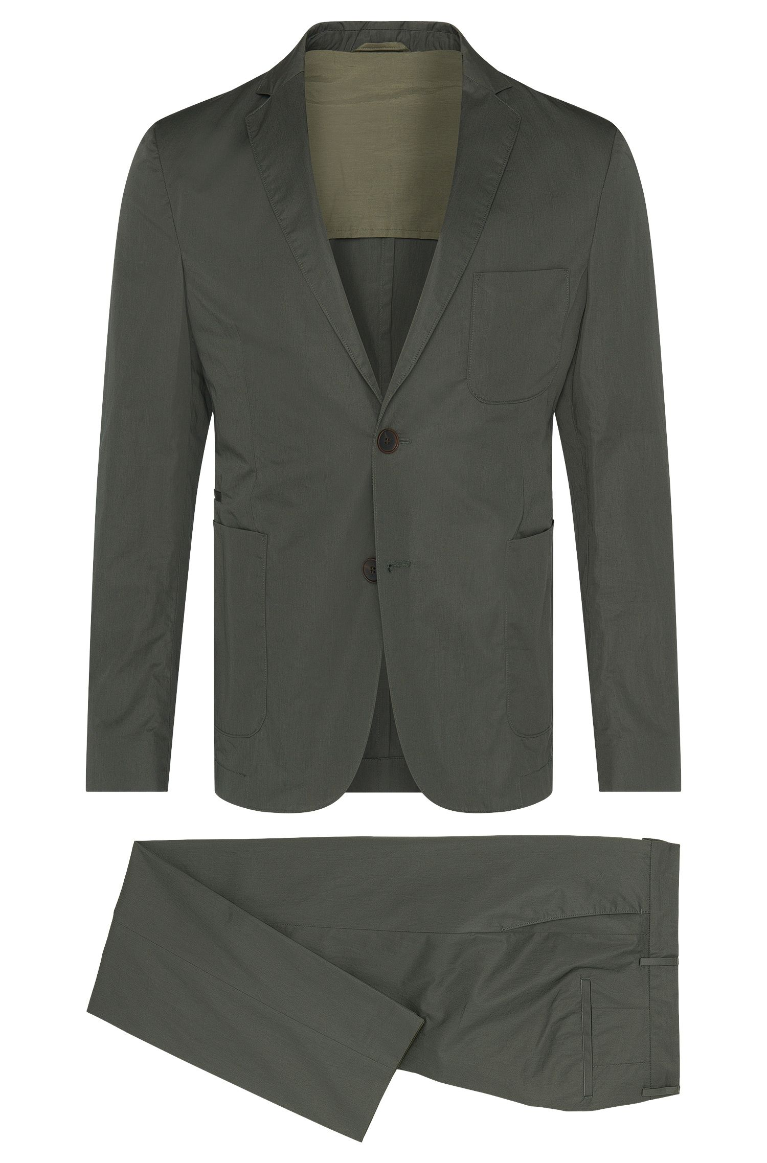 Slim-fit Travel Line suit in cotton: 'Nastven/Barns-T'