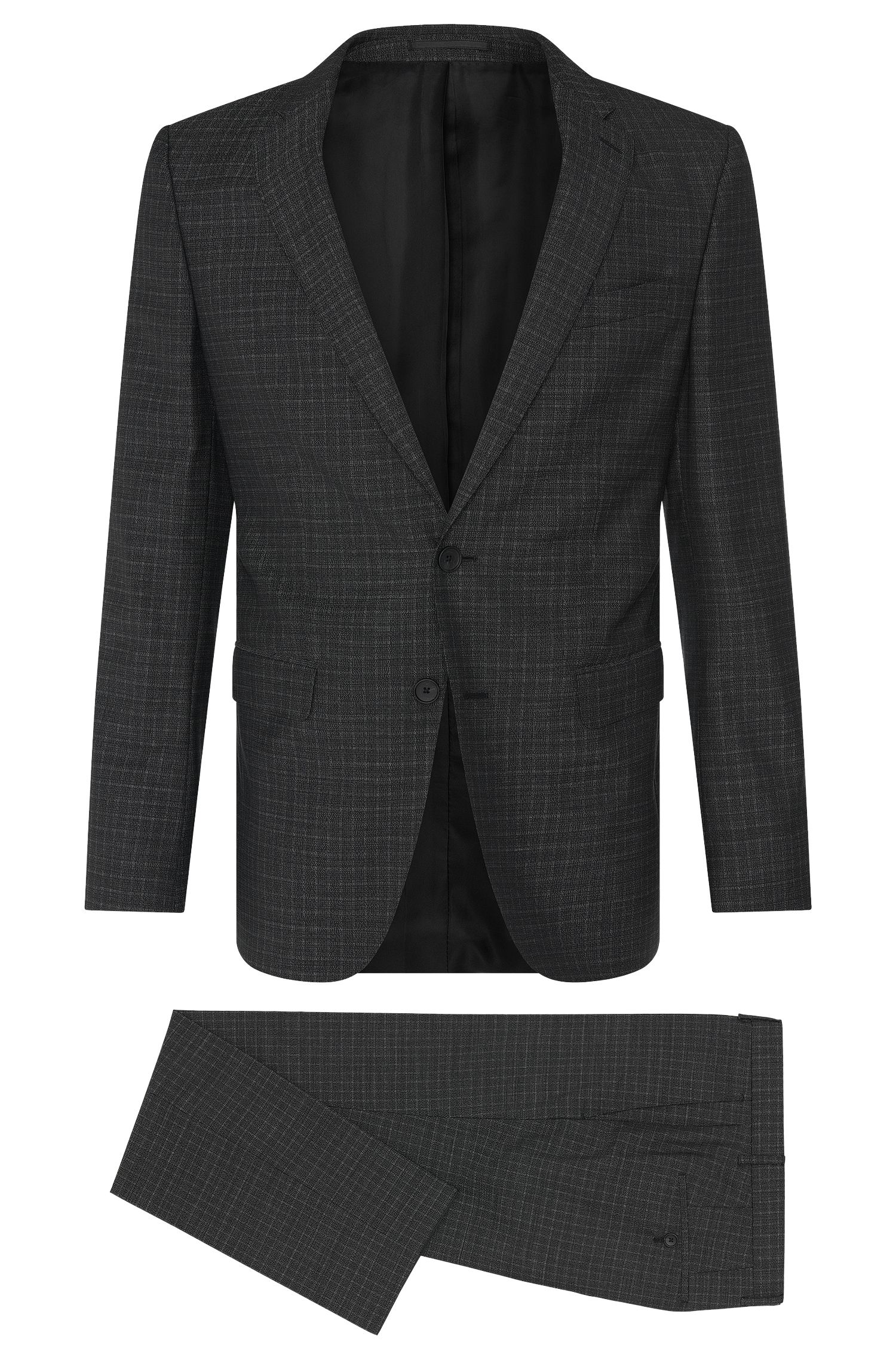 Subtly checked slim-fit suit in new wool: 'Novan3/Ben'