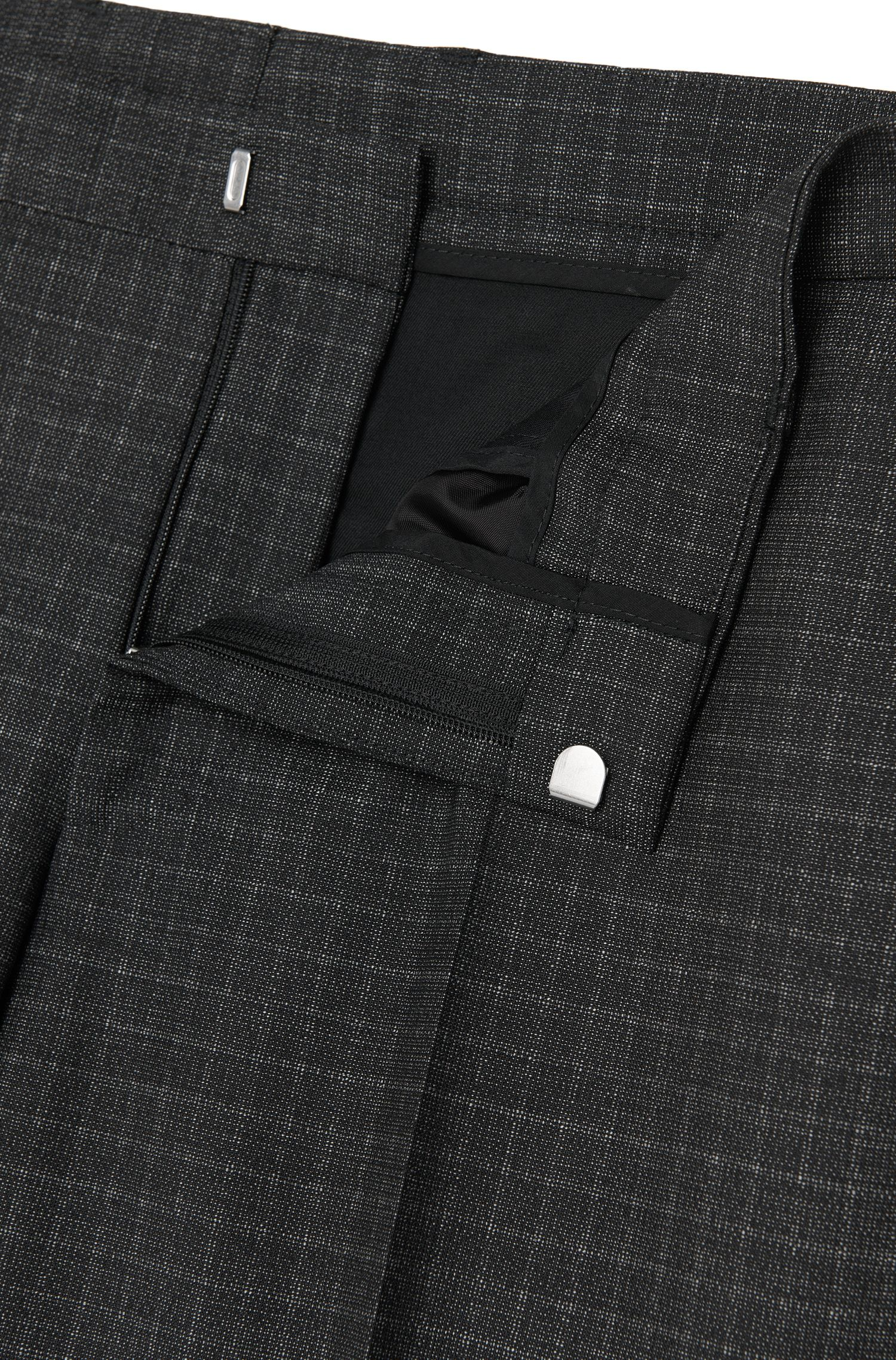 Subtiel geruit, slim-fit kostuum van scheerwol: 'Novan3/Ben'