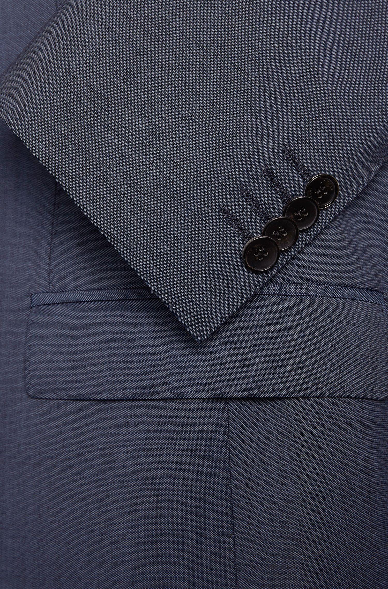 Costume Extra Slim Fit en laine vierge mélangée à teneur en mohair: «Reyno3/Wave1»