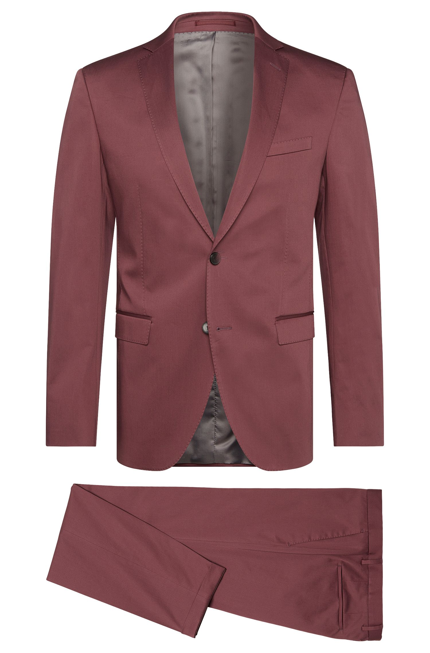 Extra slim-fit suit in stretch cotton: 'Reyno3/Wave1'
