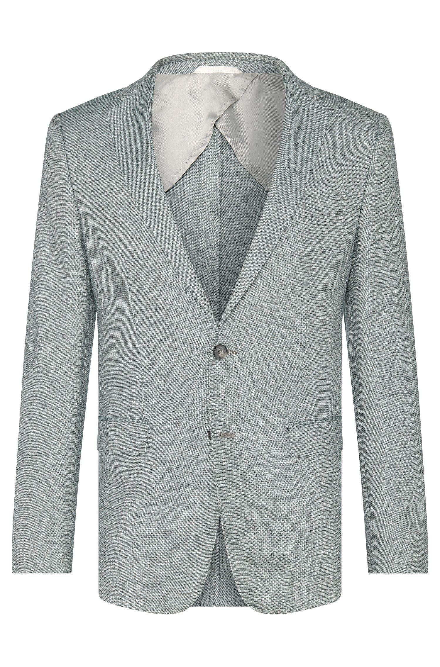 Veste de costume Slim Fit en laine vierge mélangée à du lin: «Nobis2»