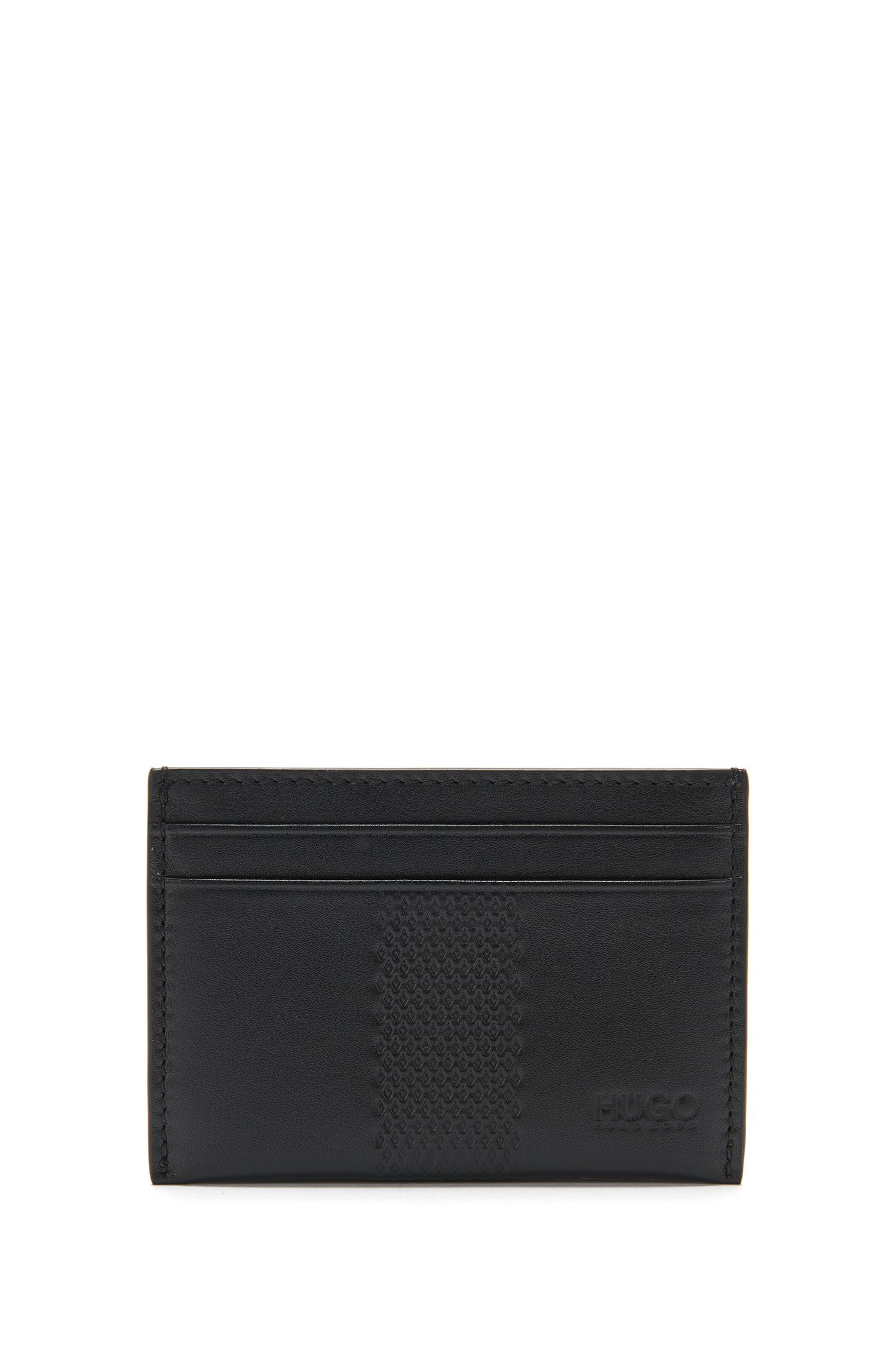 Leather card case with decorative embossing: 'Future_S card'