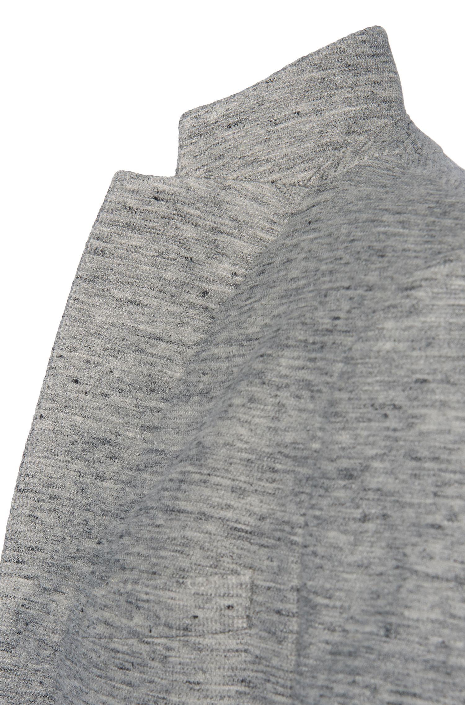 Meliertes Slim-Fit Sakko aus Baumwoll-Mix mit Leinen: 'Norwin1'