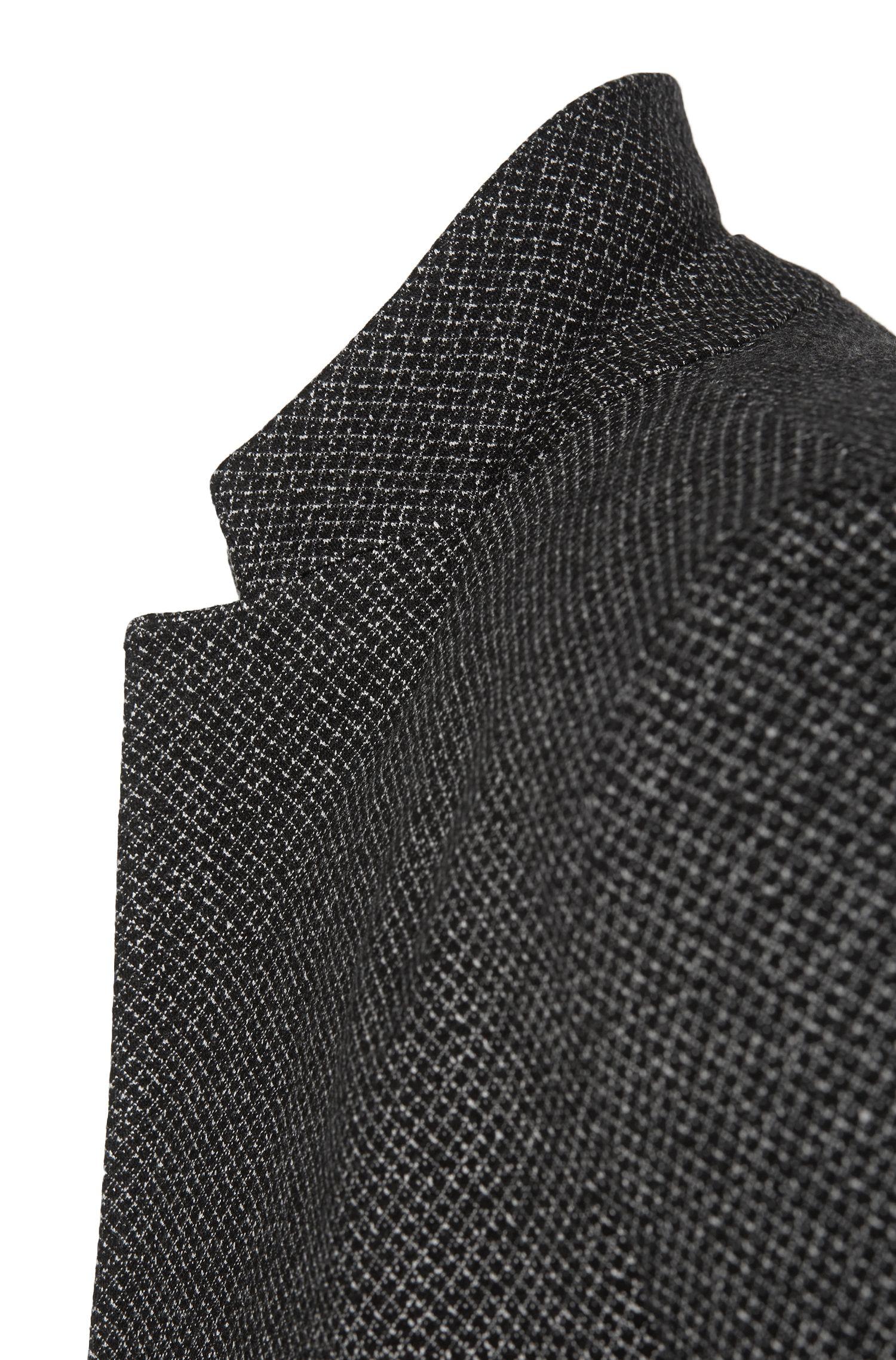 Slim-fit colbert van stretchviscose met dessin: 'Norwin1'
