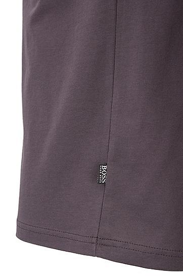 休闲版抗紫外线棉质T恤,  010_炭黑色