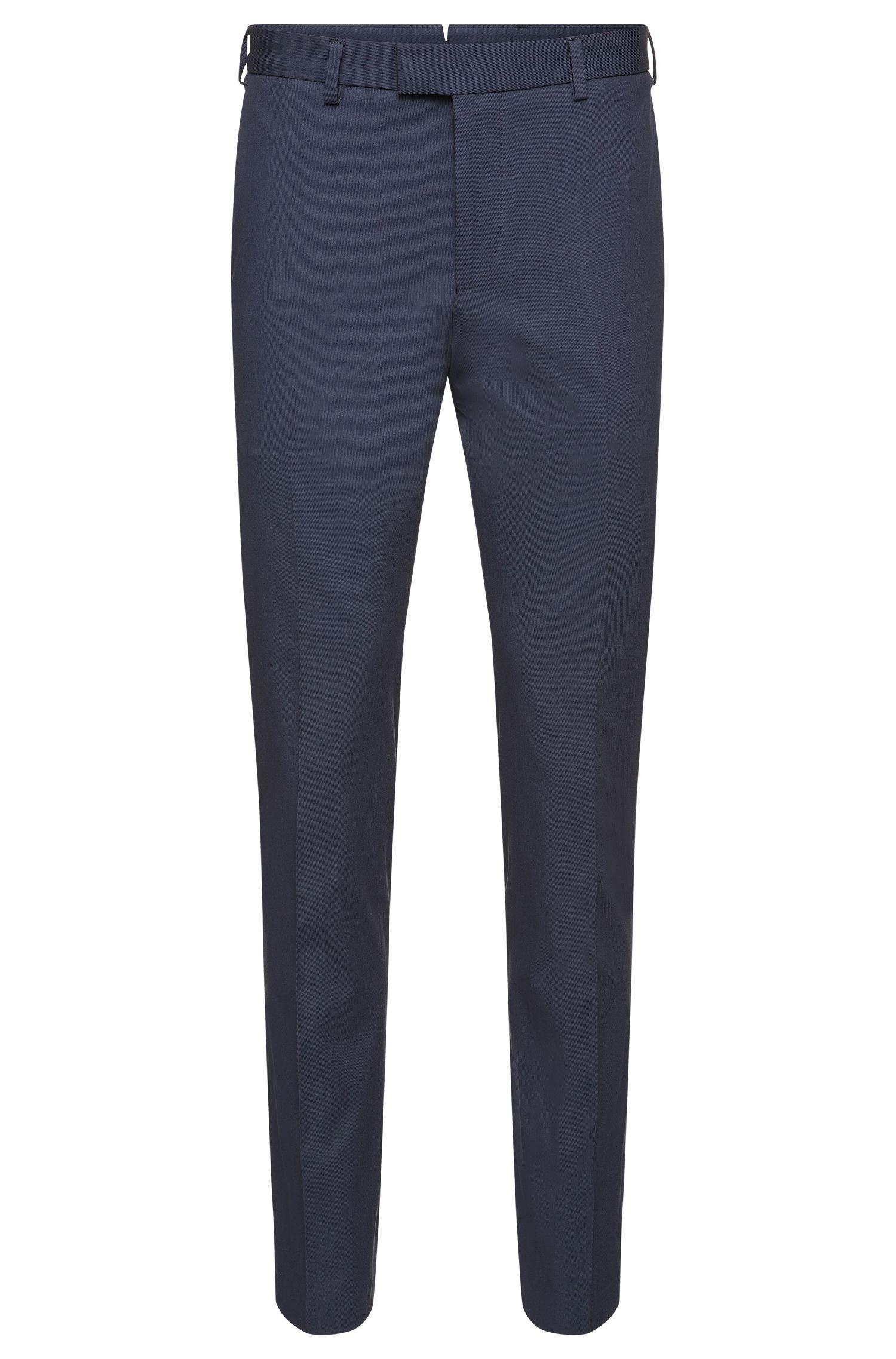 Pantaloni Tailored slim fit in cotone elasticizzato a costine sottili: 'T-Bak'