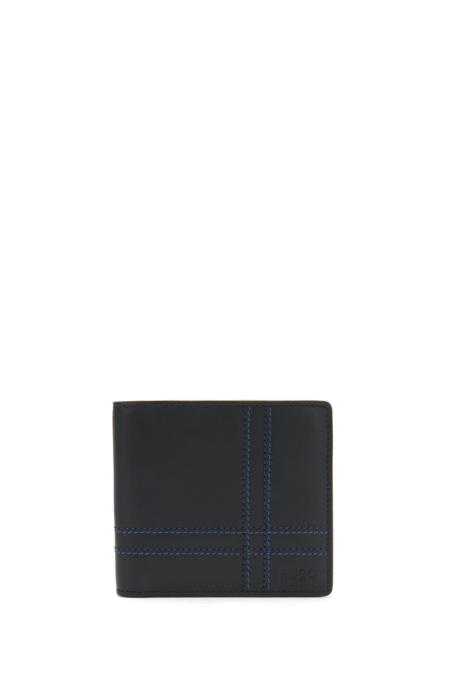 Wallet and card case in leather with decorative topstitching: 'GbH17ST_8 cc S card'
