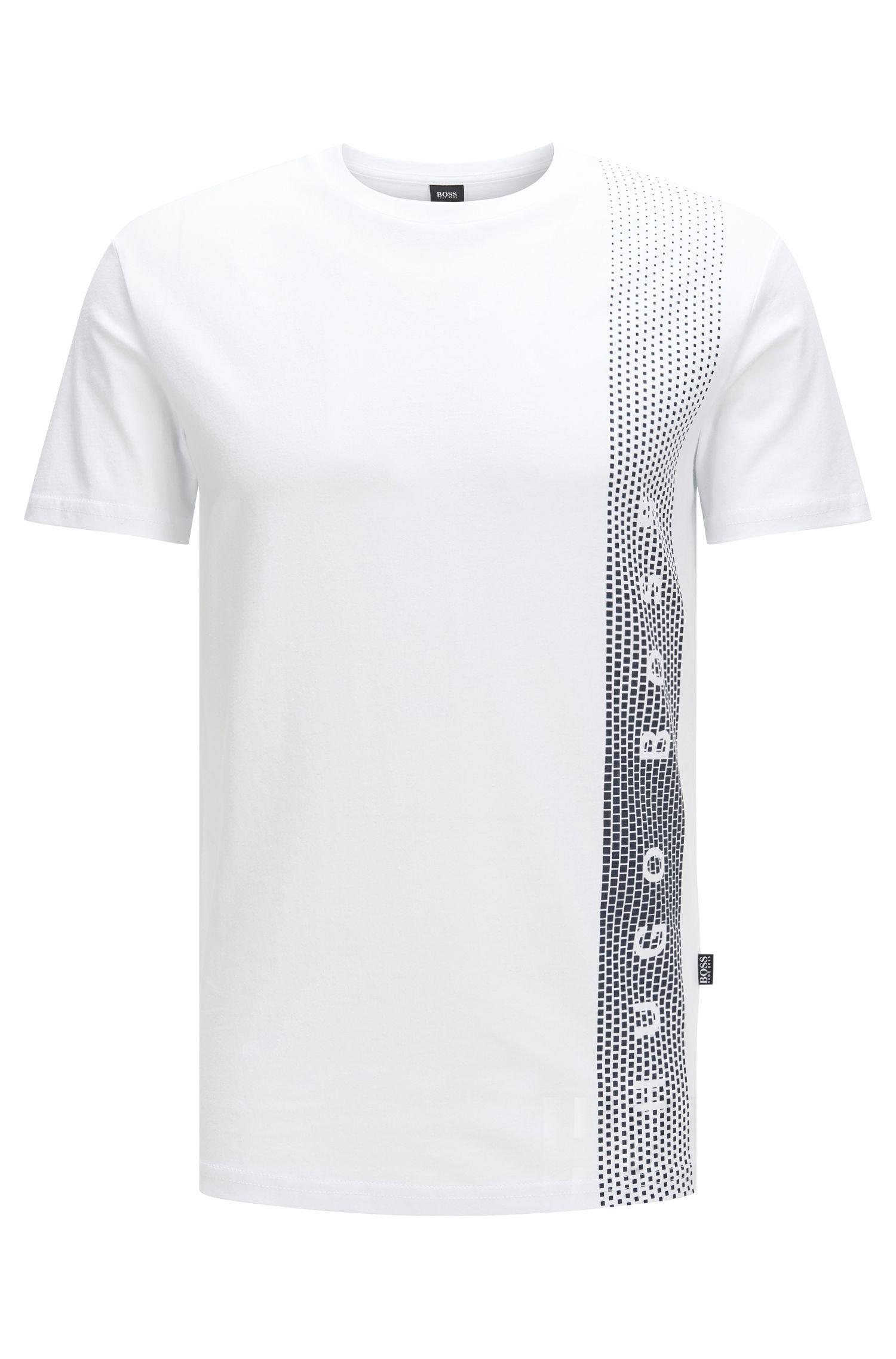 Slim-fit T-shirt van katoen met uv-bescherming: 'T-Shirt RN'