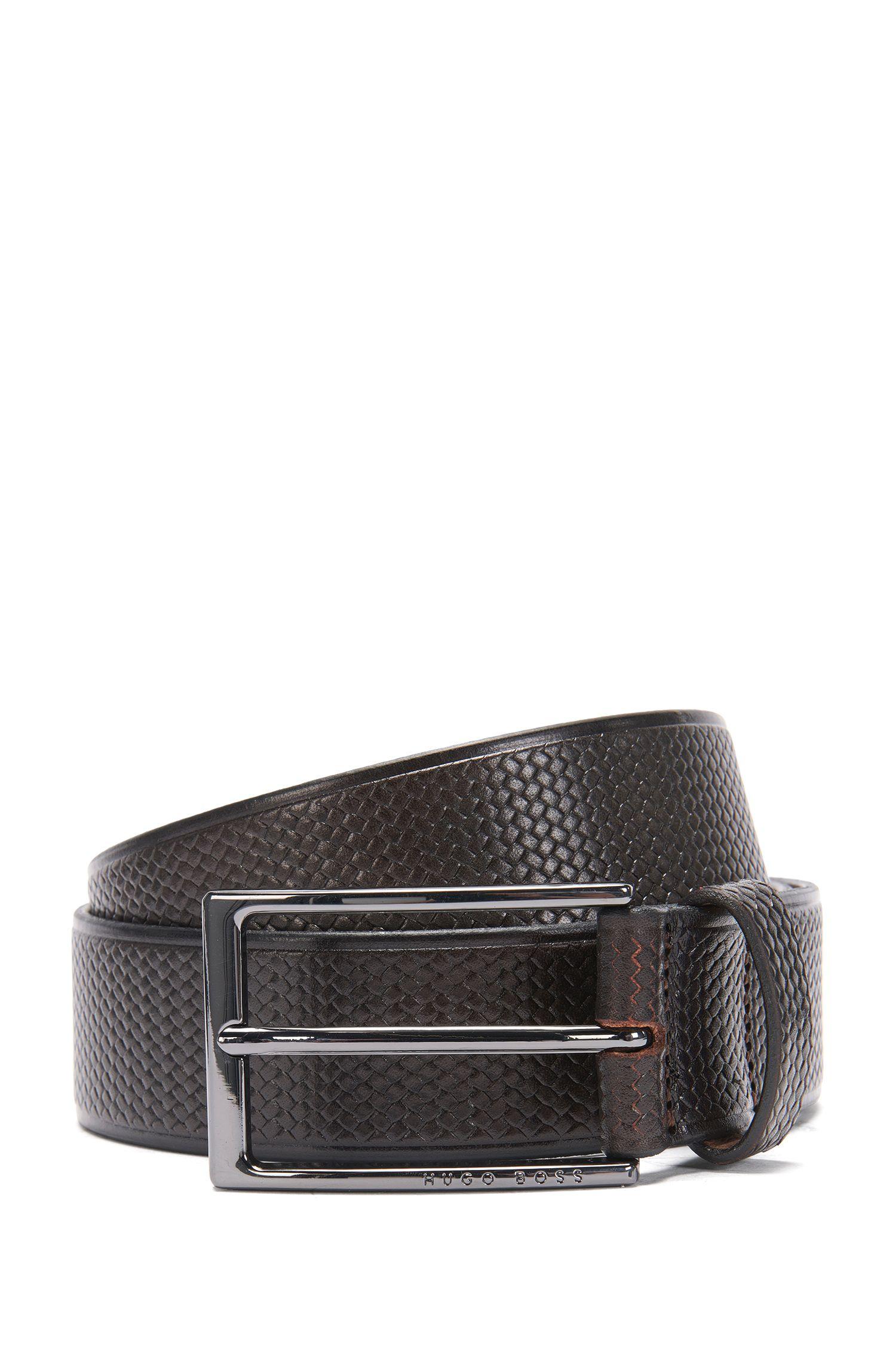 Gürtel aus strukturiertem Leder: 'Claux_Sz35_Item'
