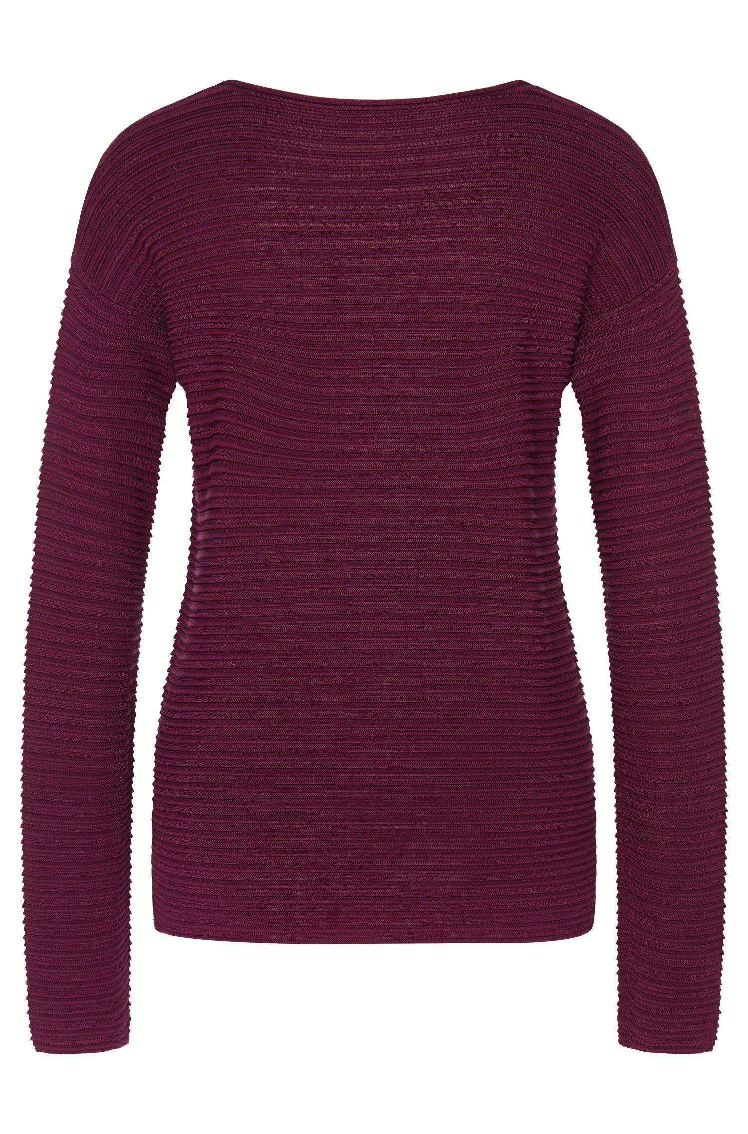 Pullover aus elastischem Viskose-Mix mit Seide, Baumwolle und Kaschmir: 'Suria'