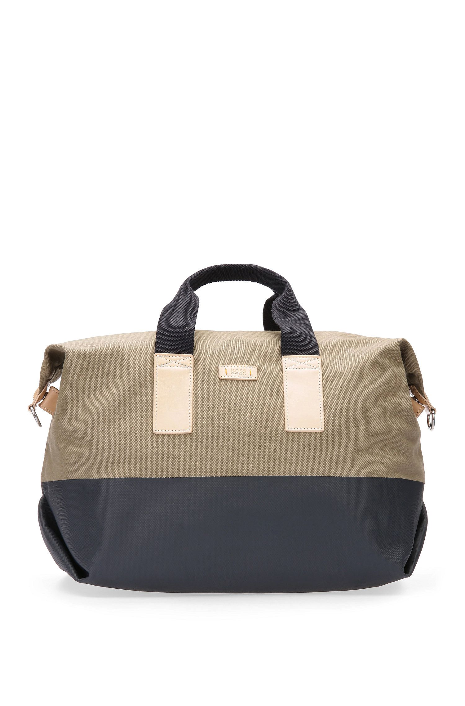 Holdall in textured cotton: 'Lightime_Holdall'