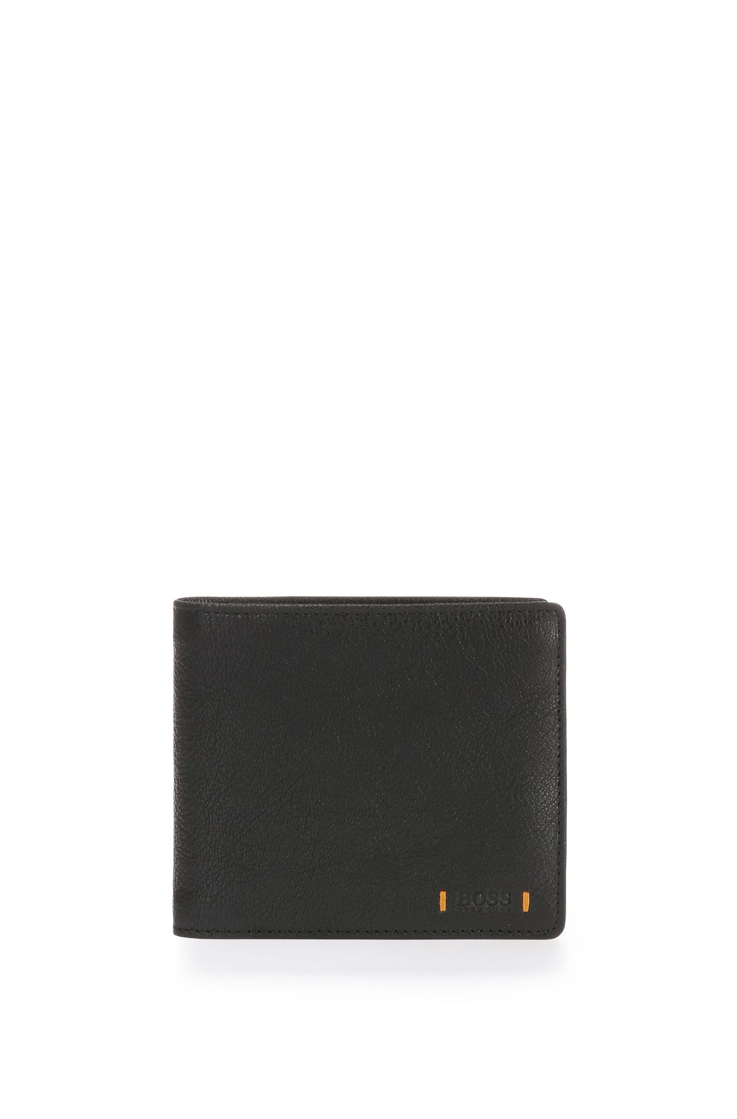 Wallet in grained leather: 'Streetline_4 cc coin'