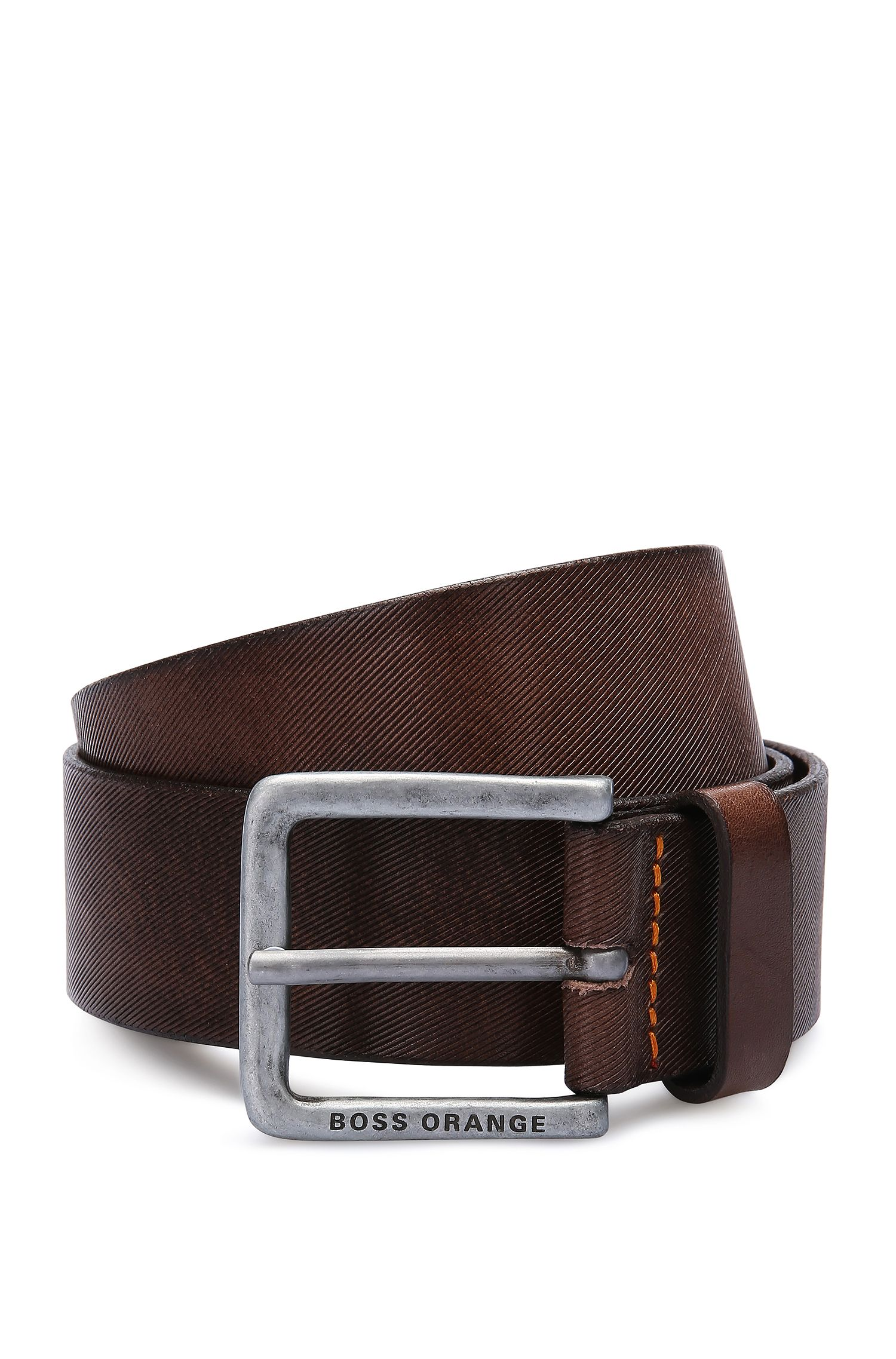 Leather belt with striped texture: 'Jeekyo_Sz40_ltem'