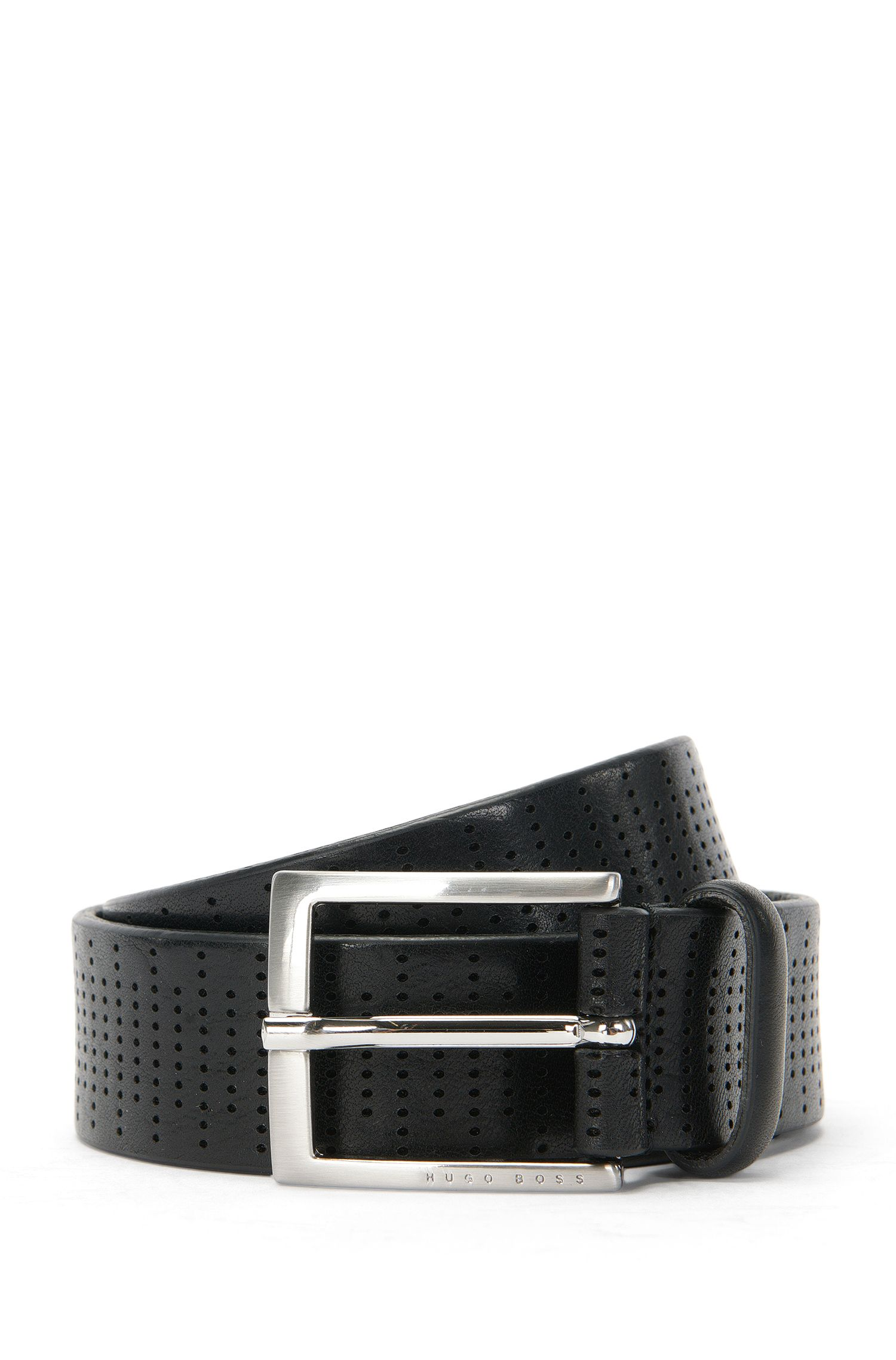 Belt in perforated leather: 'Selmaro_Sz35_ltpf'