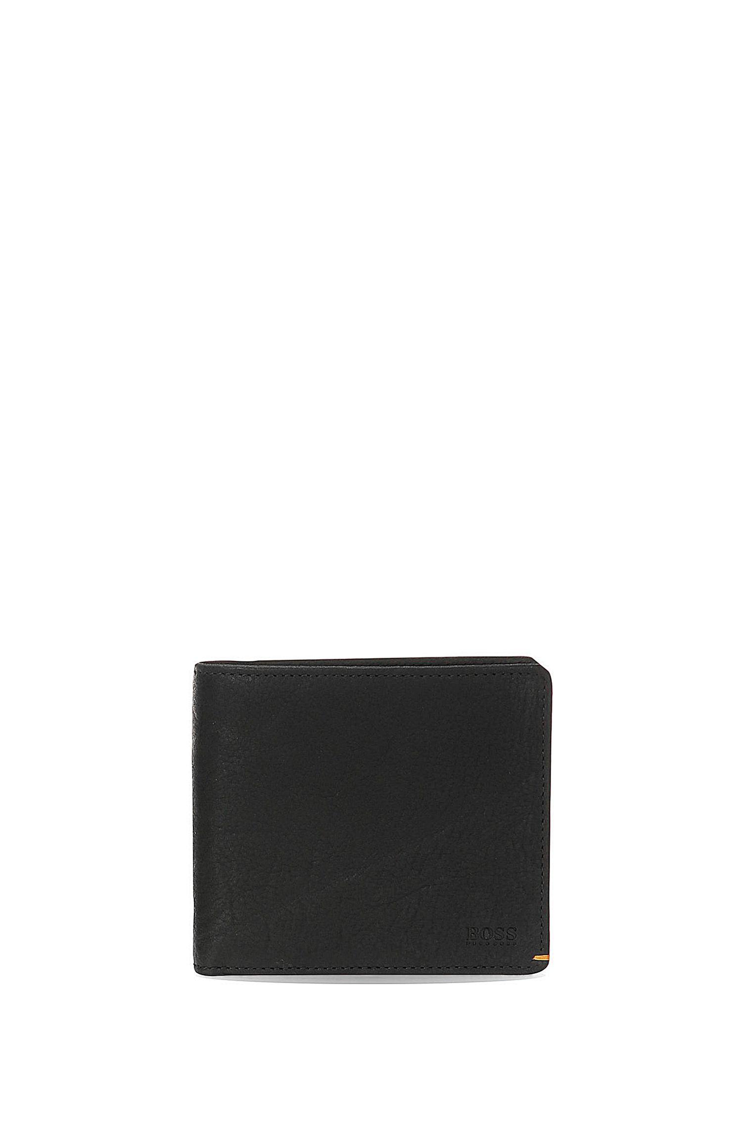 Set met portemonnee en pasjeshouder van generfd leer: 'GBO17SR_8 cc S card'