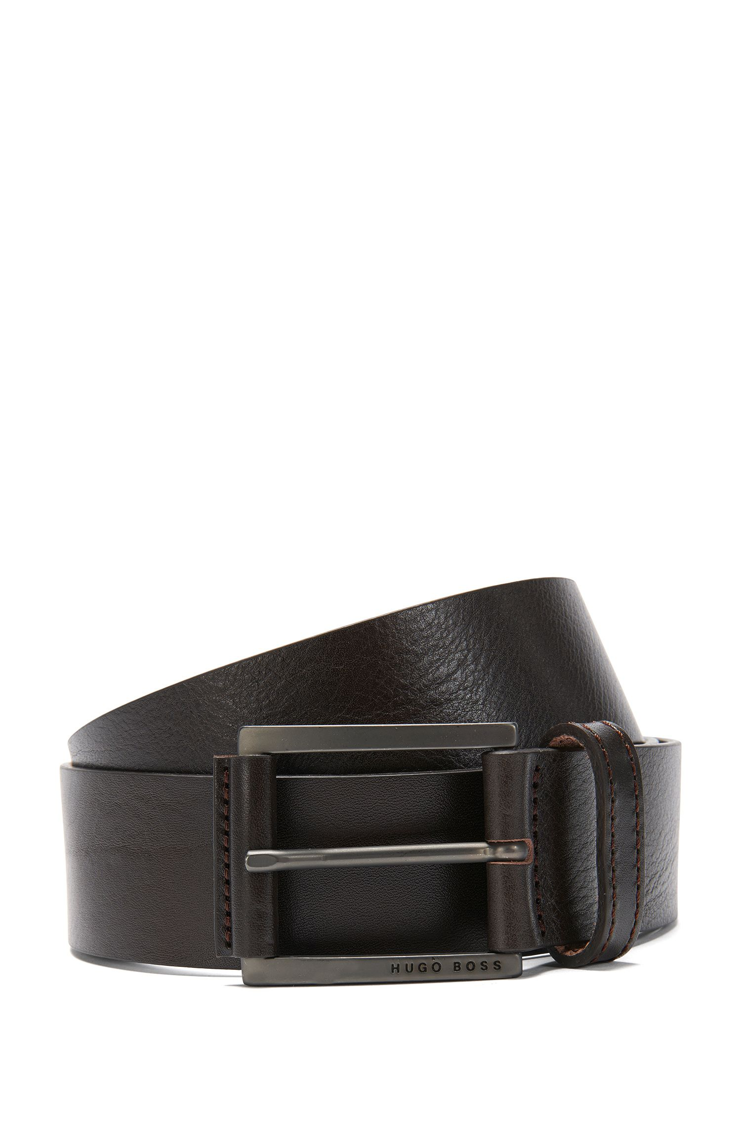 Leather belt with a fine texture: 'Sian_Sz40_Itpl'