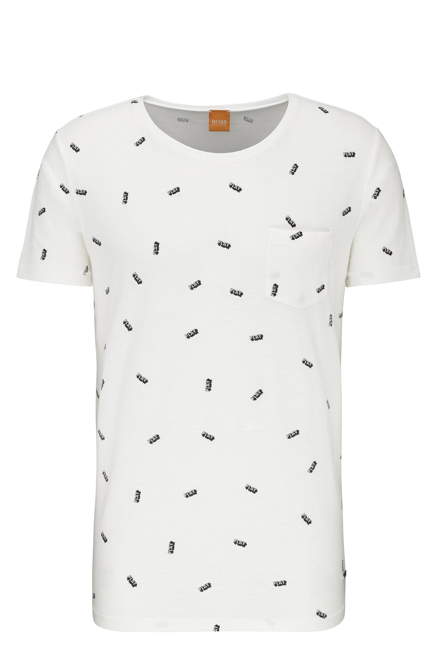 Printed relaxed-fit t-shirt in cotton: 'Toolbox 3'