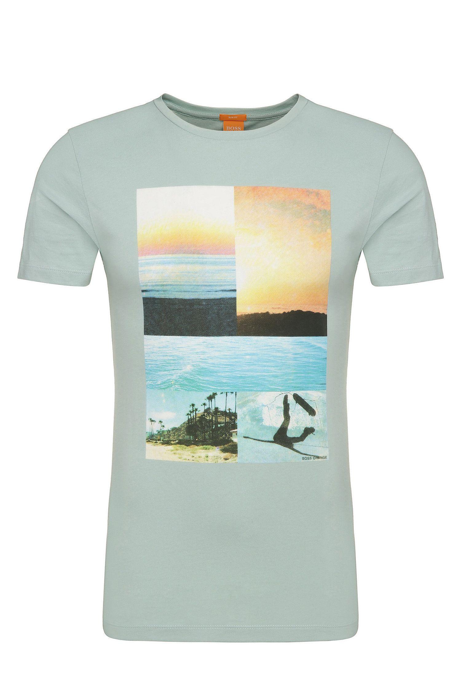 Camiseta estampada en algodón: 'Tacket 3'