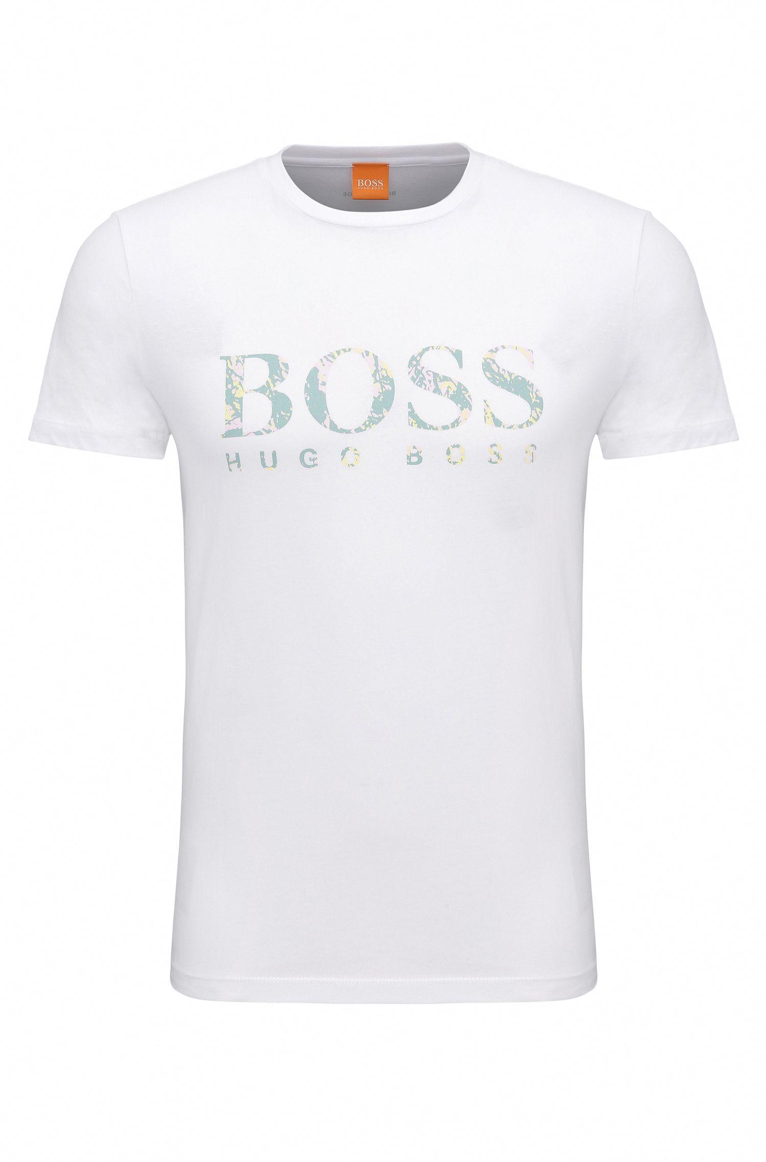 Regular-Fit Jersey-Shirt aus Baumwolle mit Logo-Print: ´Tacket 1`