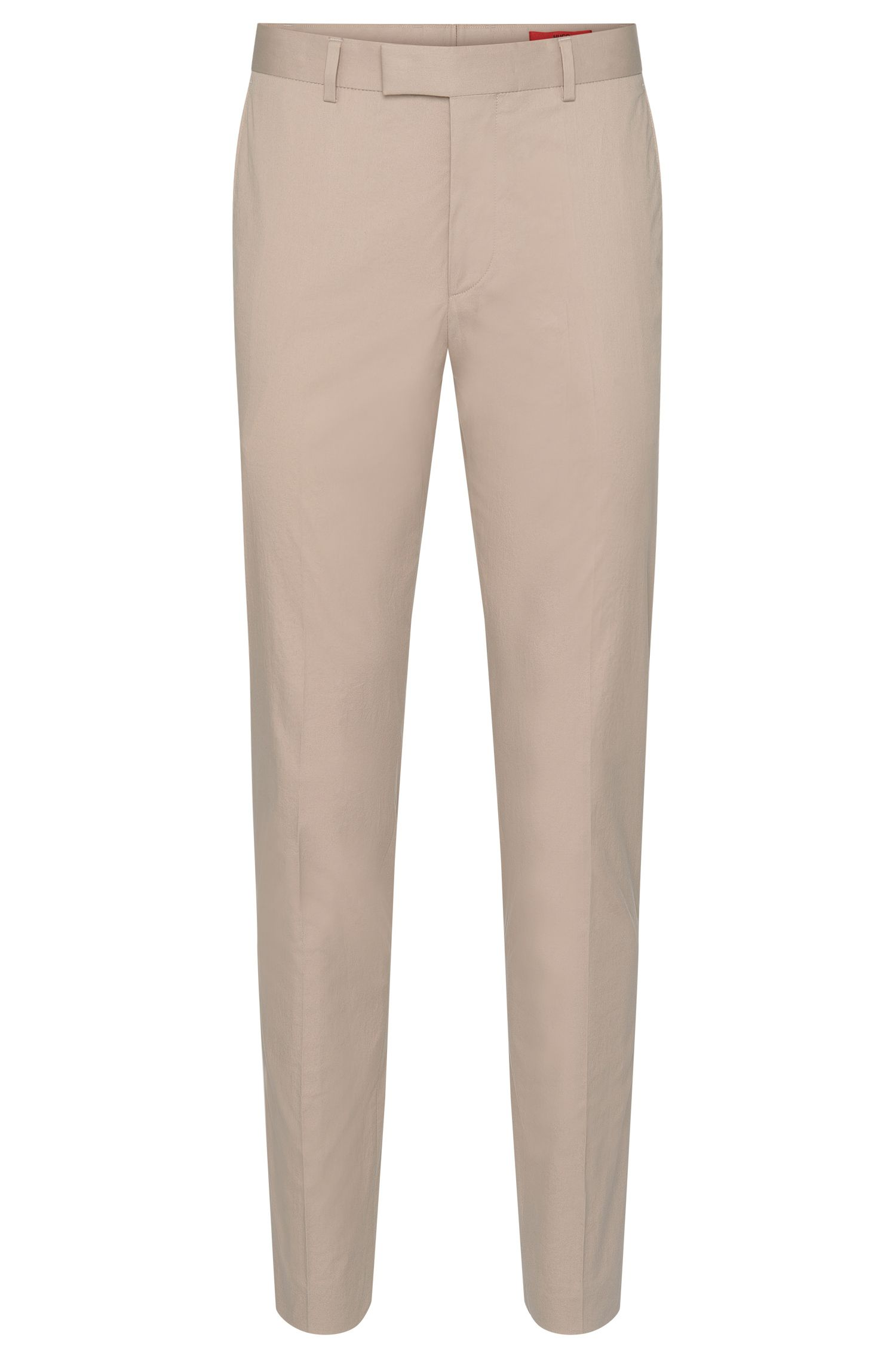 Extra slim-fit trousers in stretch cotton with pressed creases: 'Heiron'