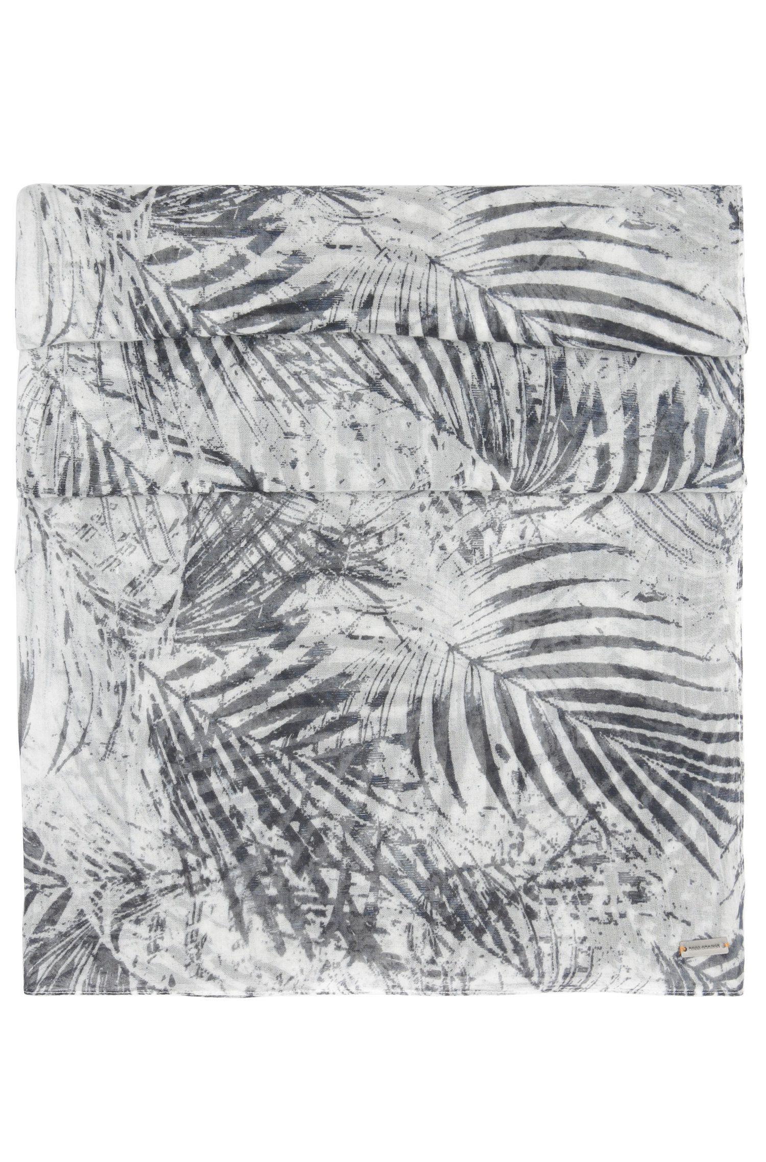 Geweven katoenen sjaal met dessin: 'Nabamboo'