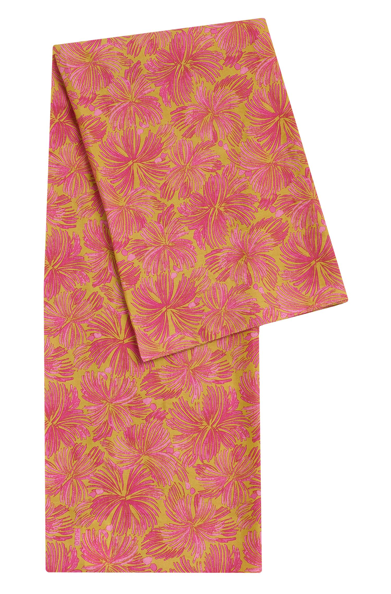 Patterned scarf in cotton blend with silk: 'Women-Z 540'