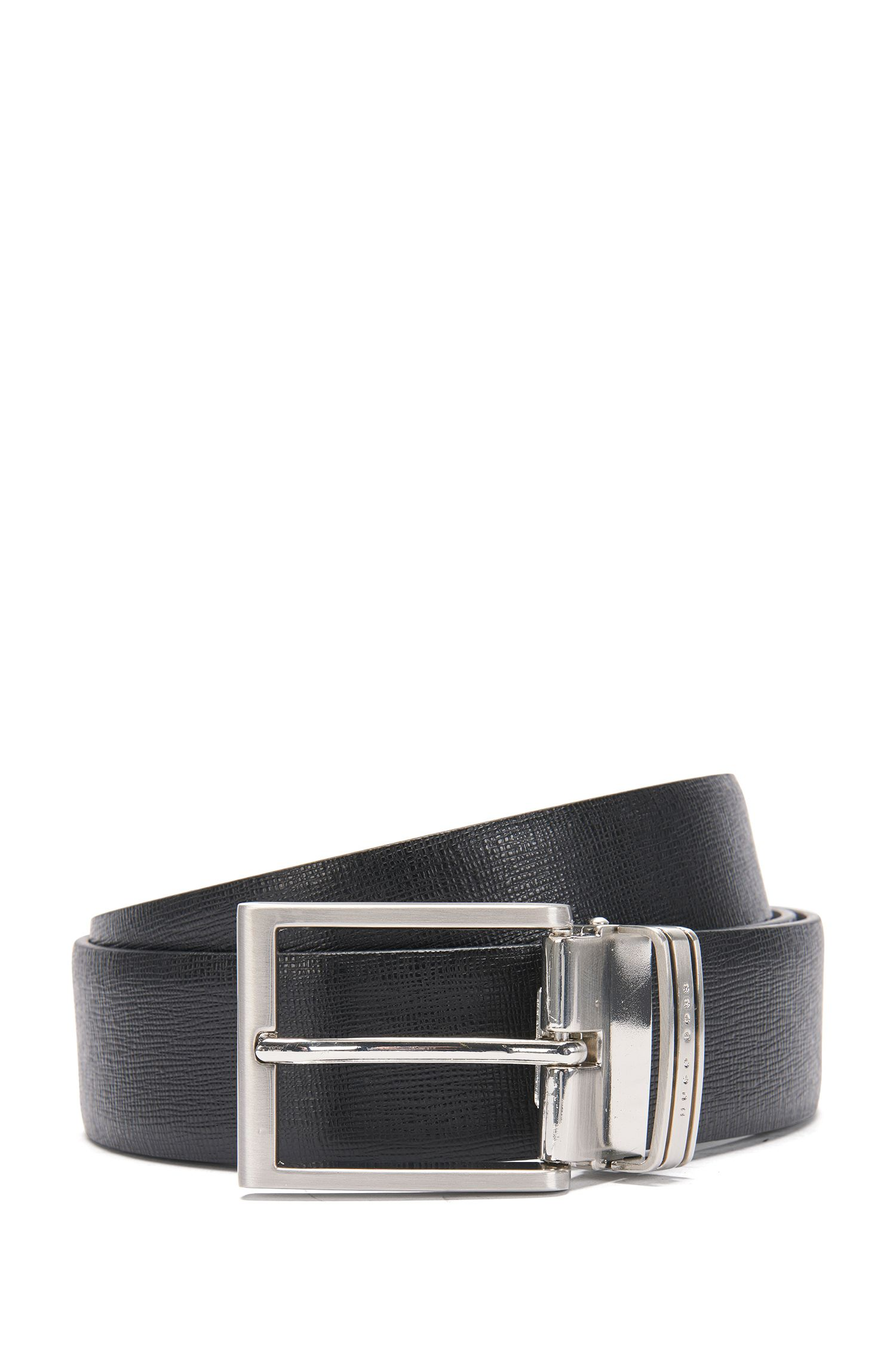 Wendegürtel aus Leder mit auswechselbarer Schließe: 'Gerwin_Gb35_ps'
