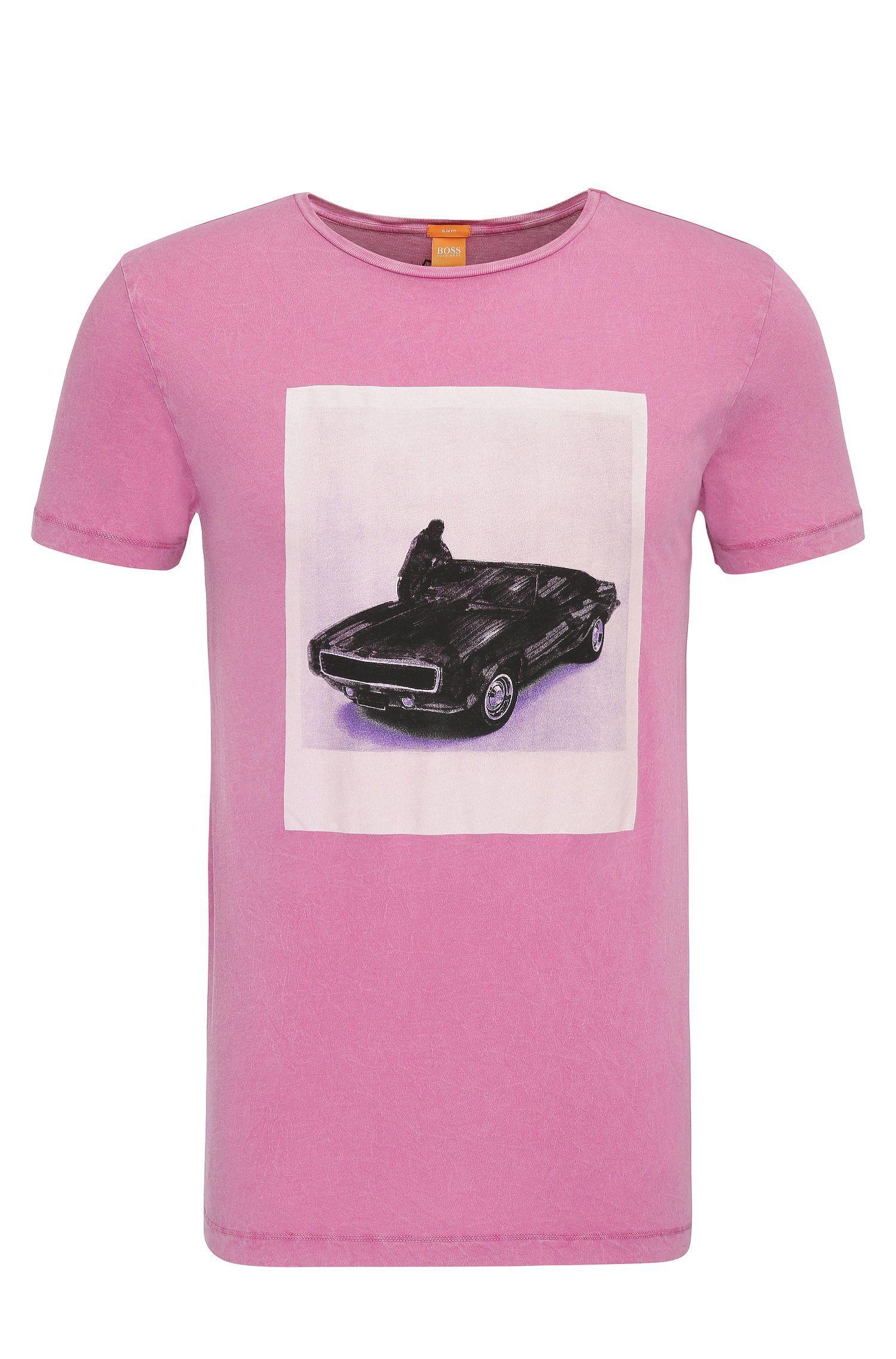 Slim-fit cotton t-shirt with photo print: 'Tasteful 1'
