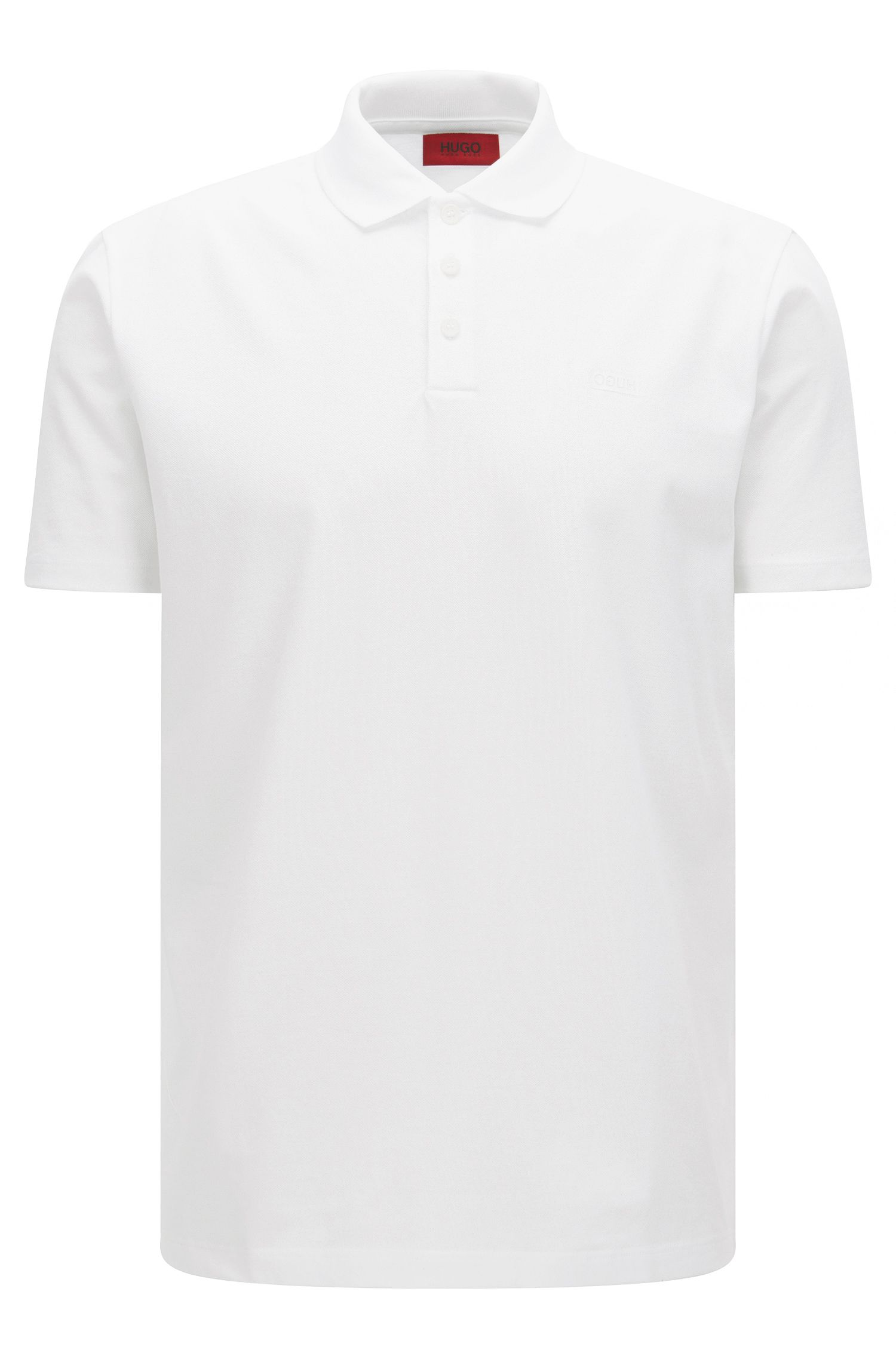 Piqué cotton polo shirt with reverse logo