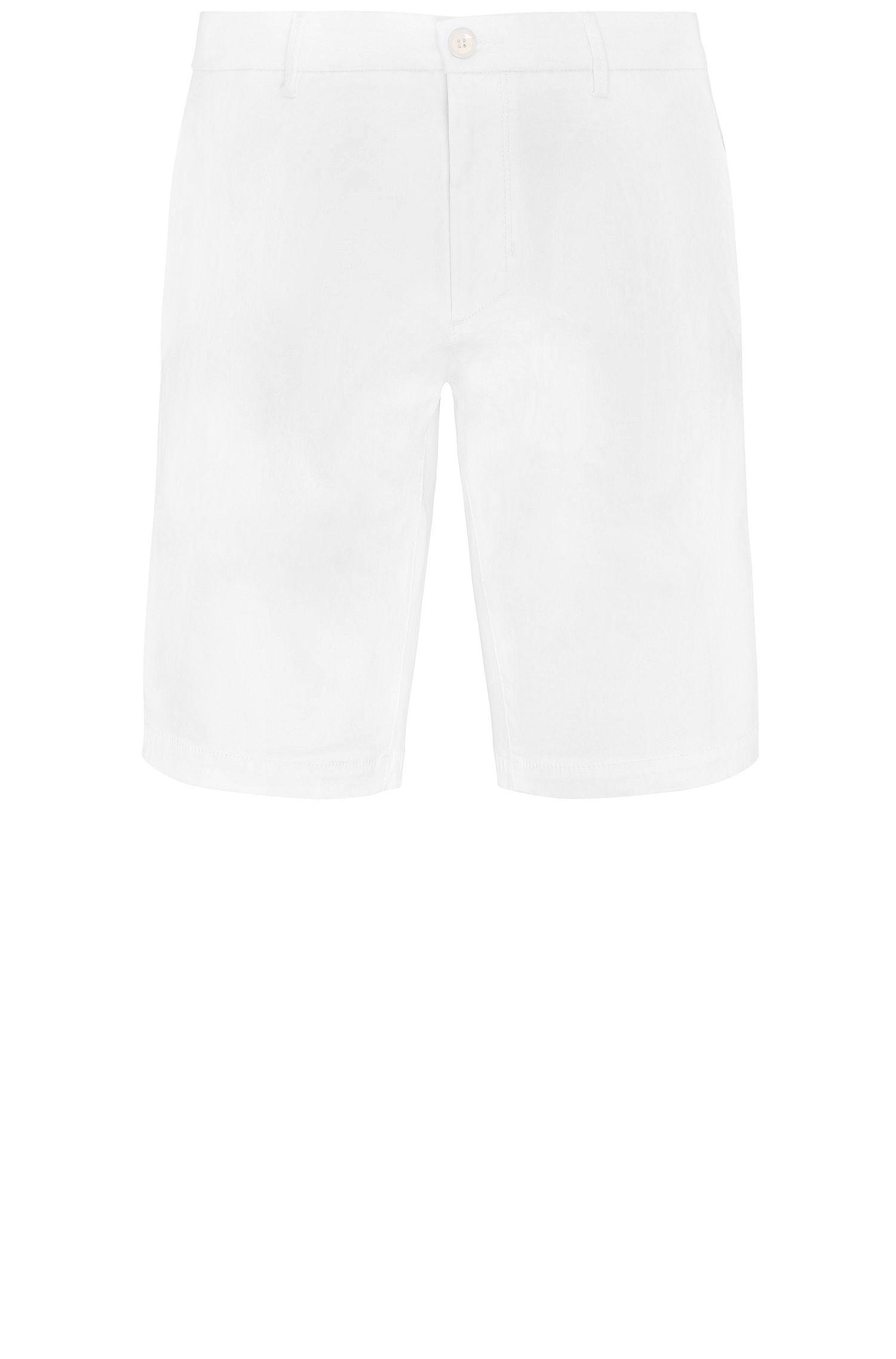 Shorts slim fit en mezcla de algodón elástico con viscosa: 'Liem4-W'