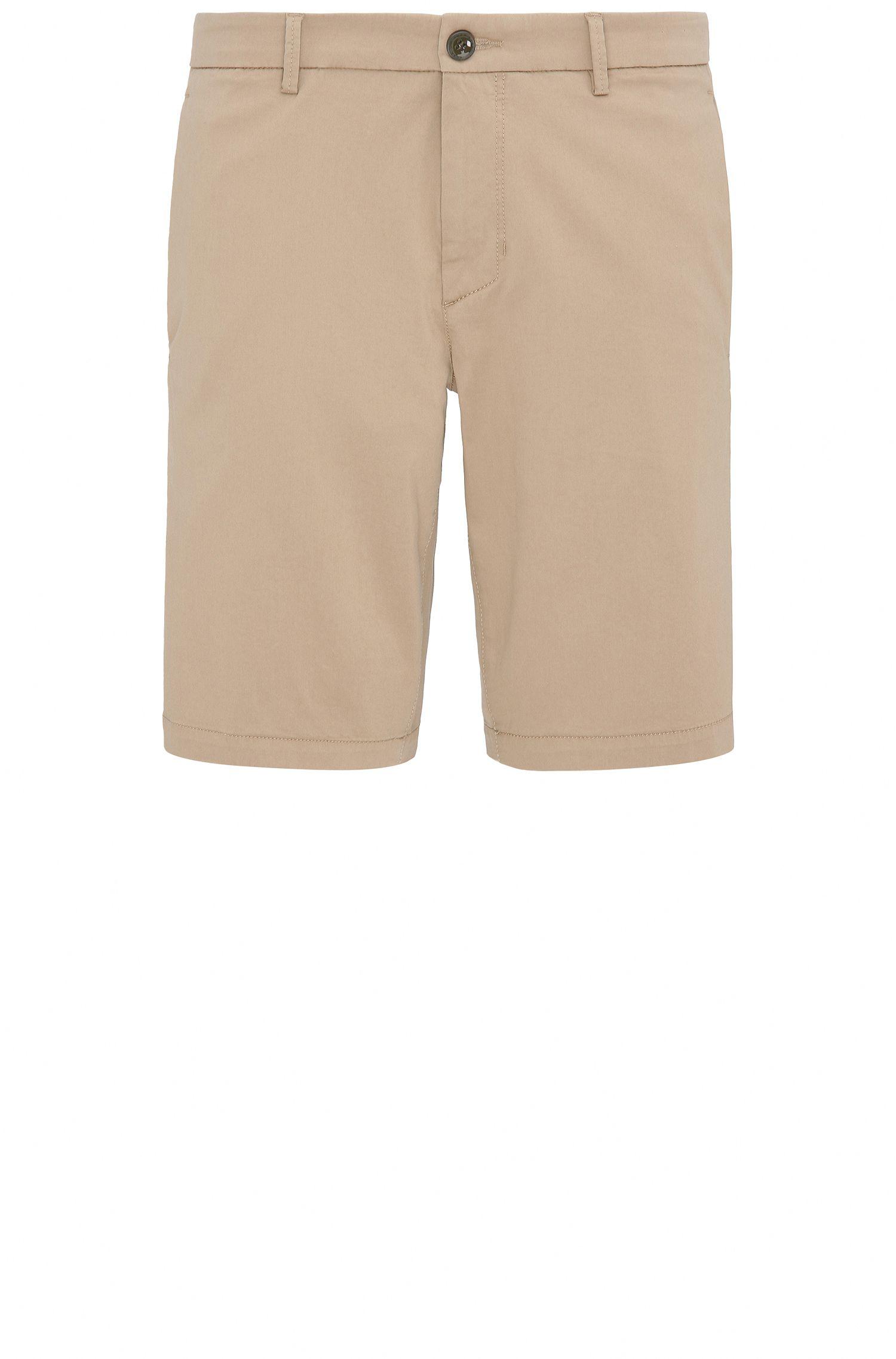 Slim-Fit Shorts aus elastischem Baumwoll-Mix mit Viskose: ´Liem4-W`