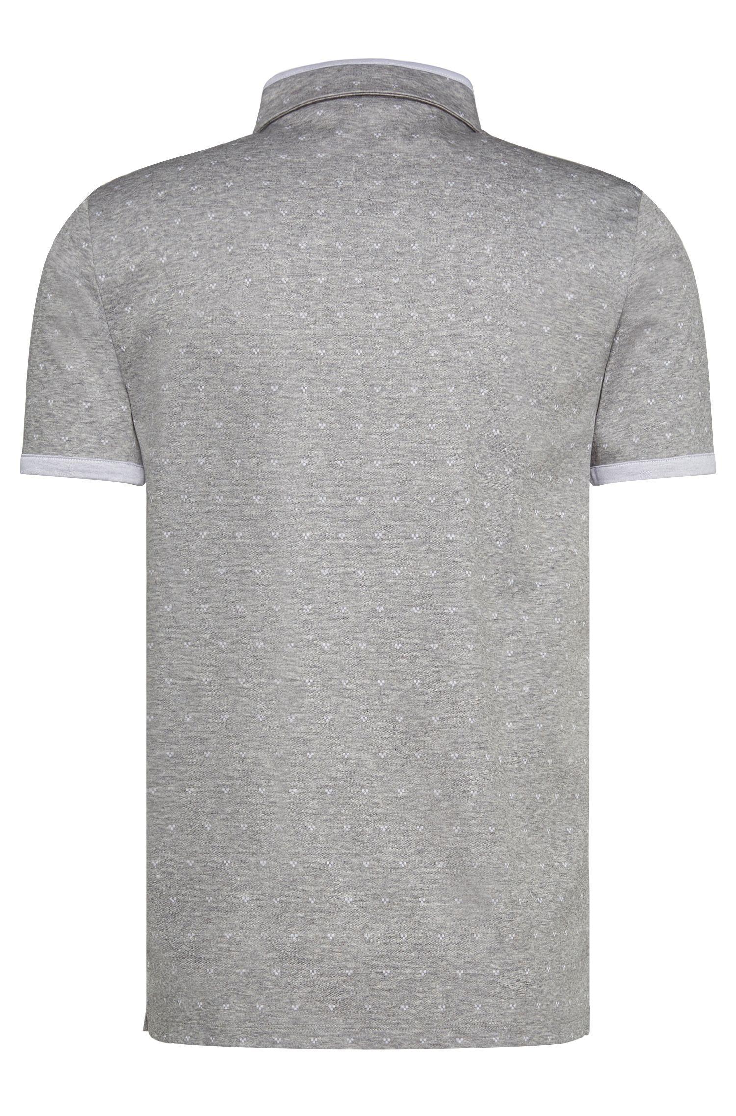 Meliertes Slim-Fit Poloshirt aus merzerisierter Baumwolle: 'Denno'