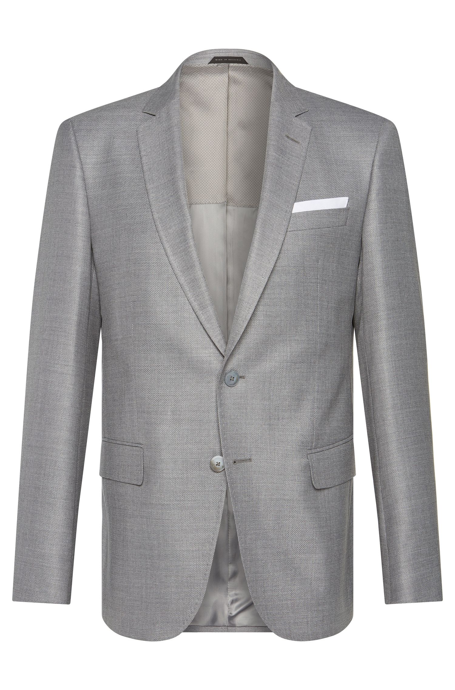 Slim-fit jacket in a new-wool blend with silk: 'Hutsons3'