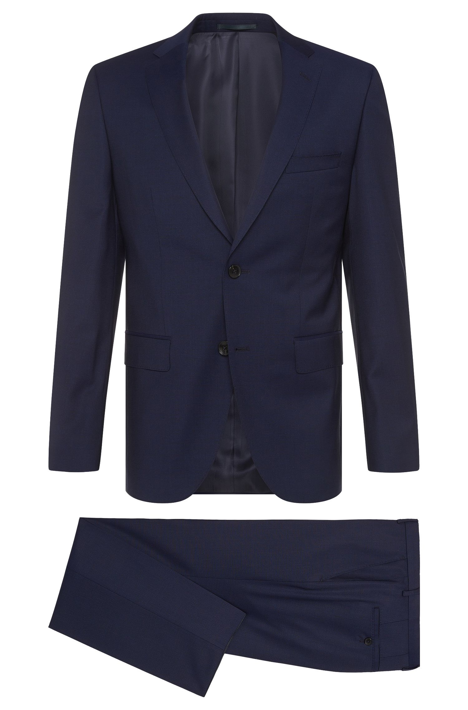 Regular-cut suit in a new wool blend with silk: 'Johnstons2/Lenon'