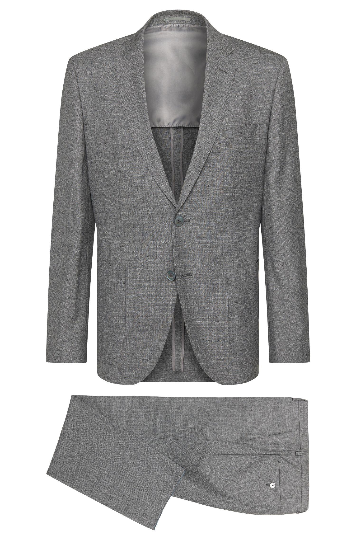 Regular-fit kostuum van scheerwol met parelmoerknopen: 'Janon/Lenon'