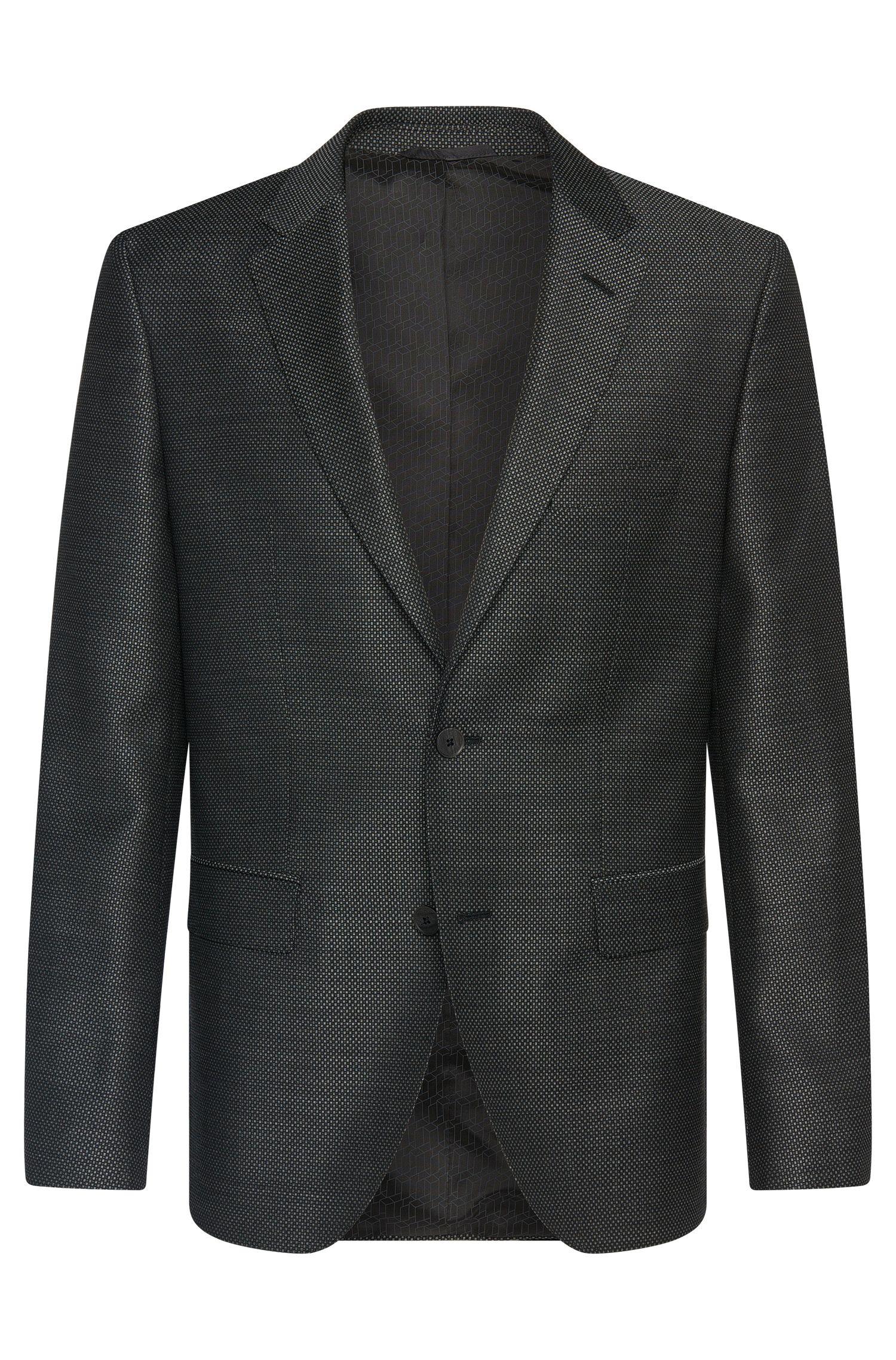 Veste de costume Regular Fit en laine vierge à carreaux fins: «Jewels1»