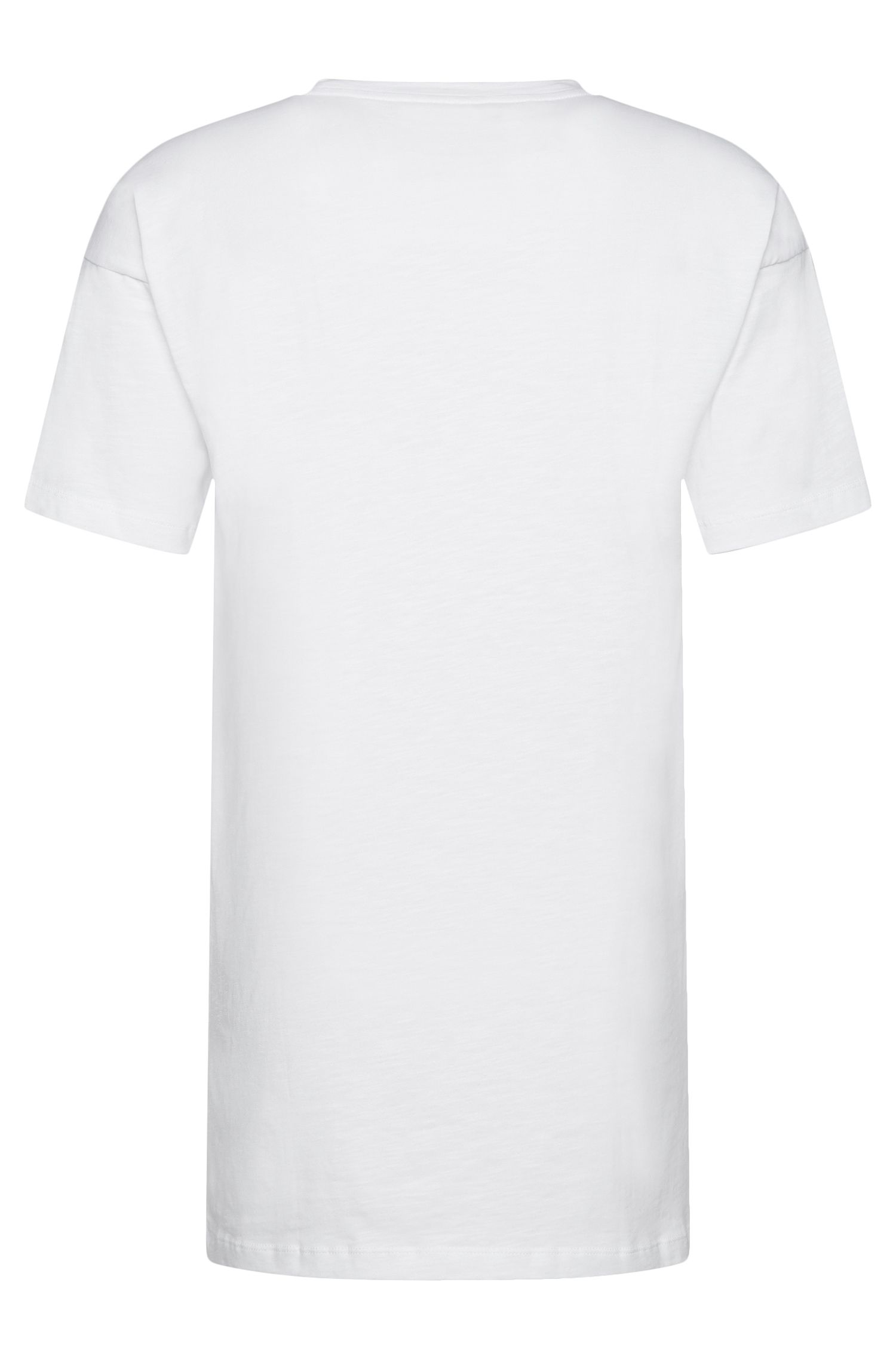 Relaxed-fit T-shirt van katoen in een langer model: 'Doracle'