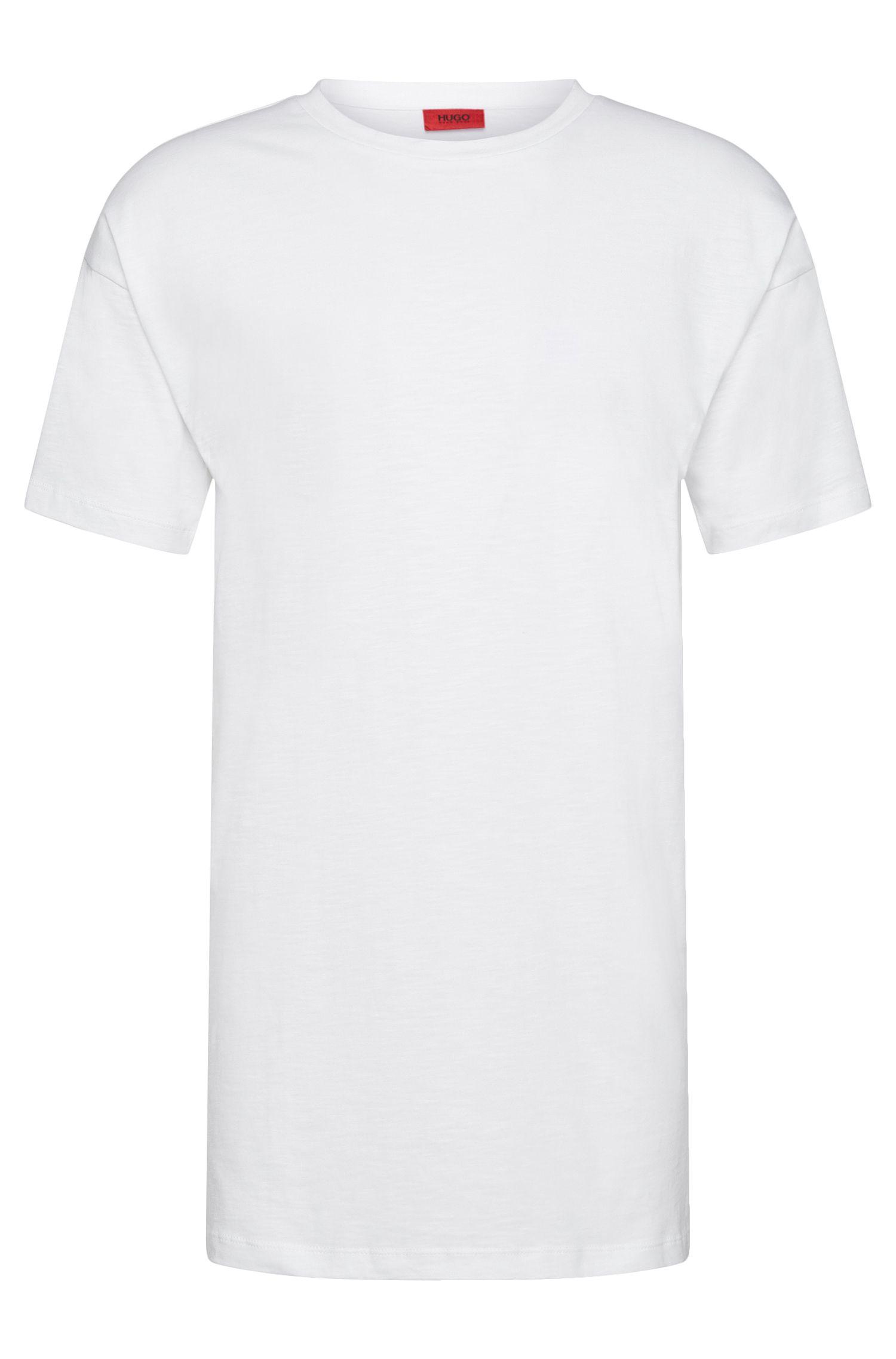 T-shirt Relaxed Fit en coton de coupe rallongée: «Doracle»