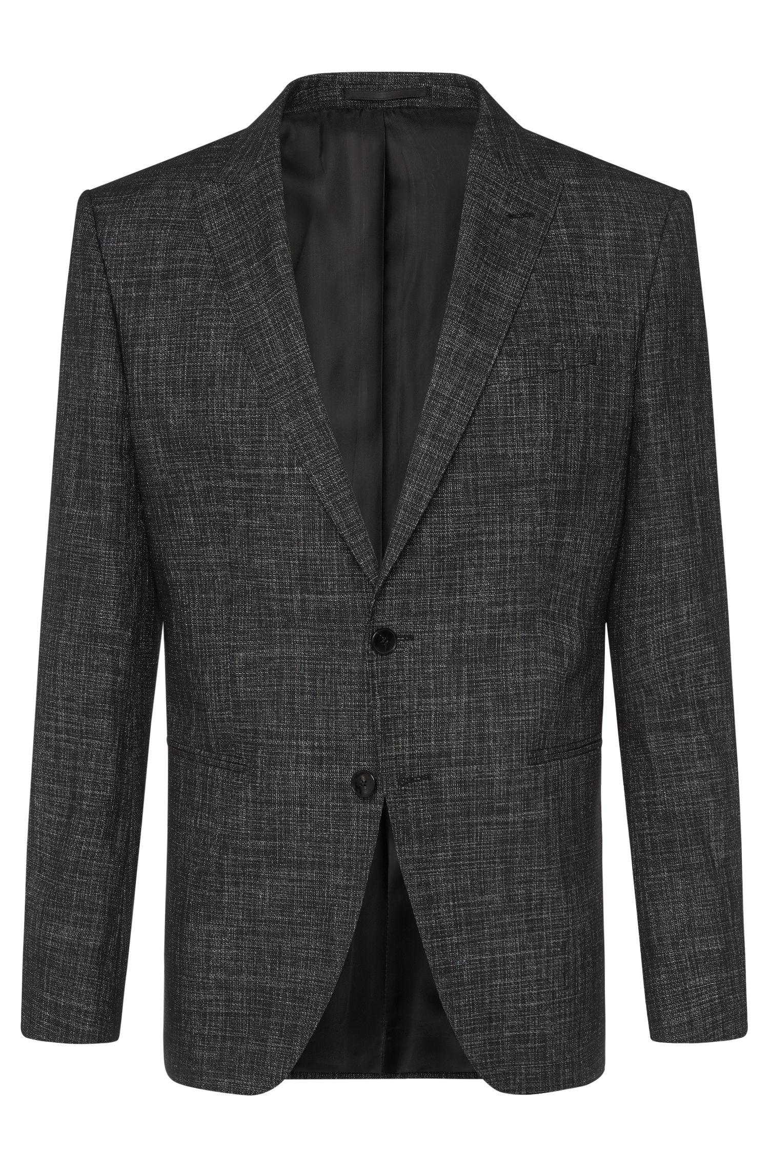 Mottled slim-fit jacket in cotton blend with viscose: 'Hanwyn'