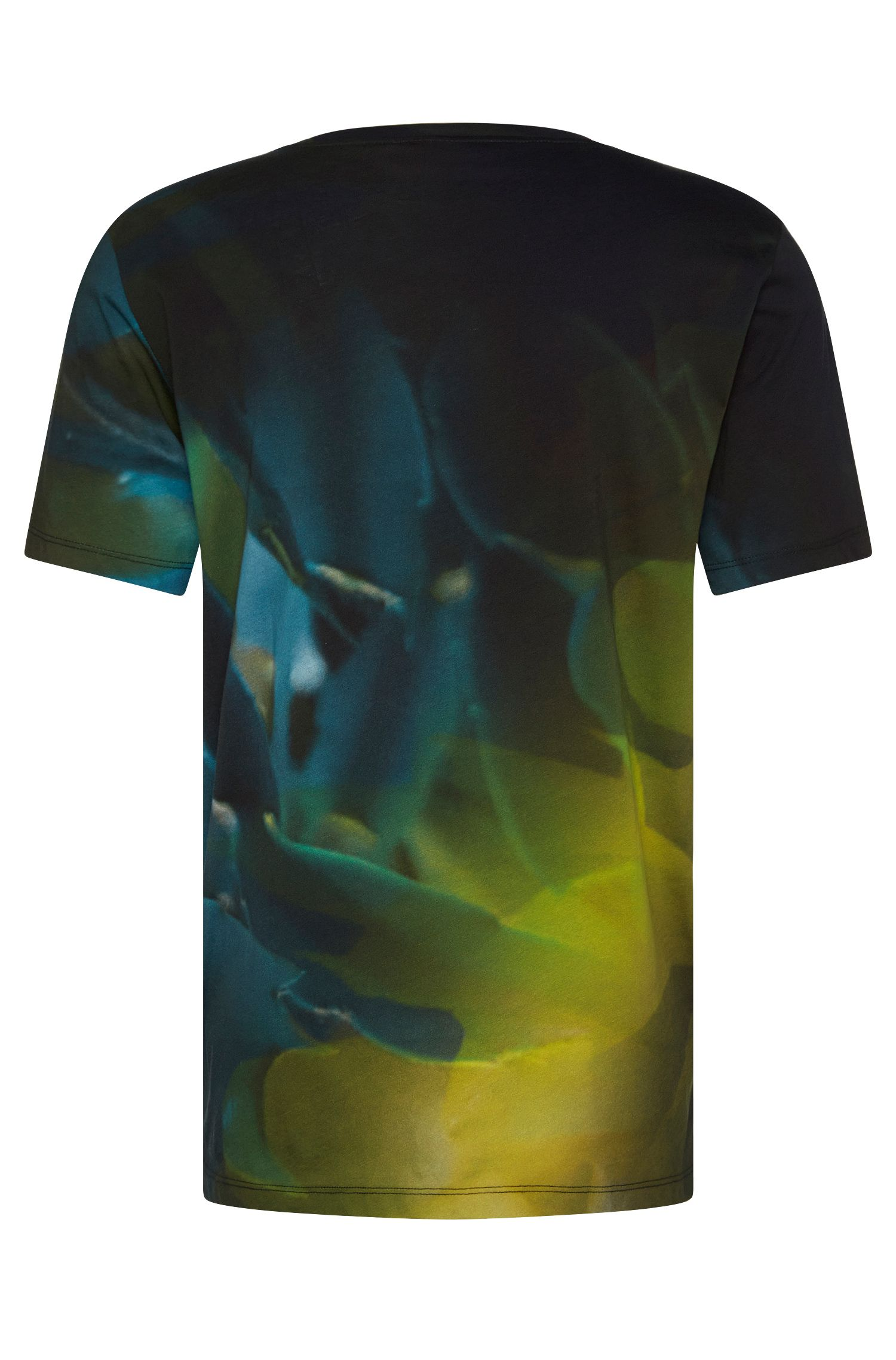 Gemustertes Relaxed-Fit T-Shirt aus Baumwolle: 'Dunny'