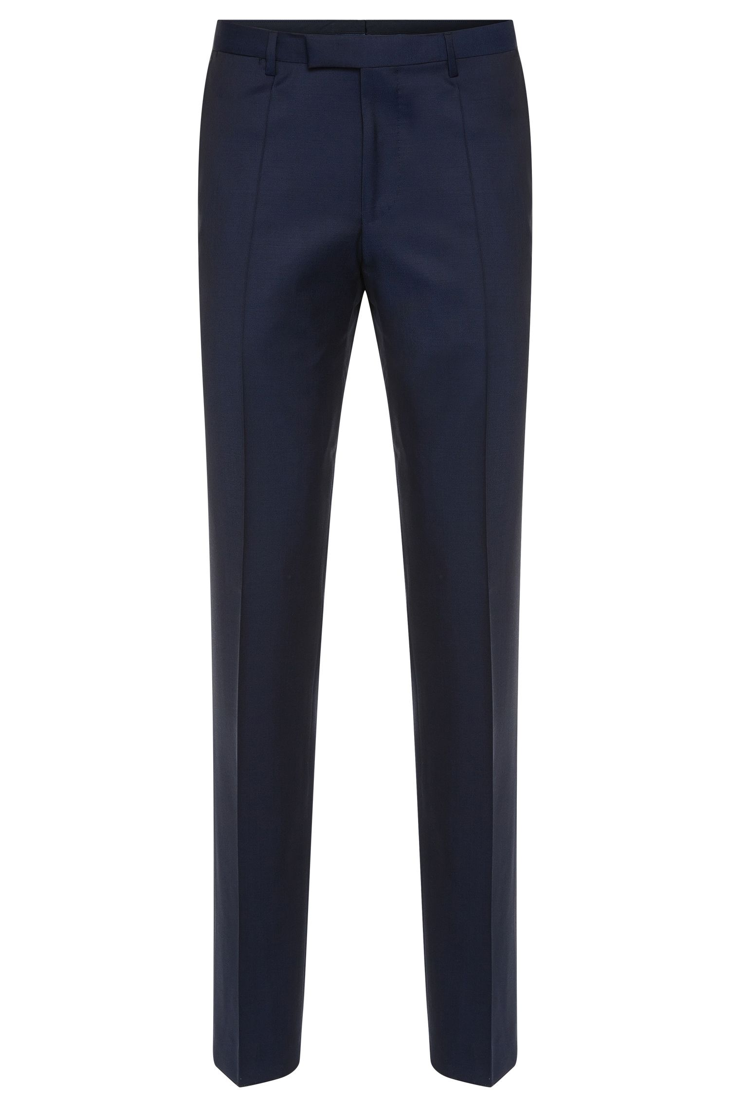 Regular-fit trousers with pressed creases in new wool: 'Lightning1'