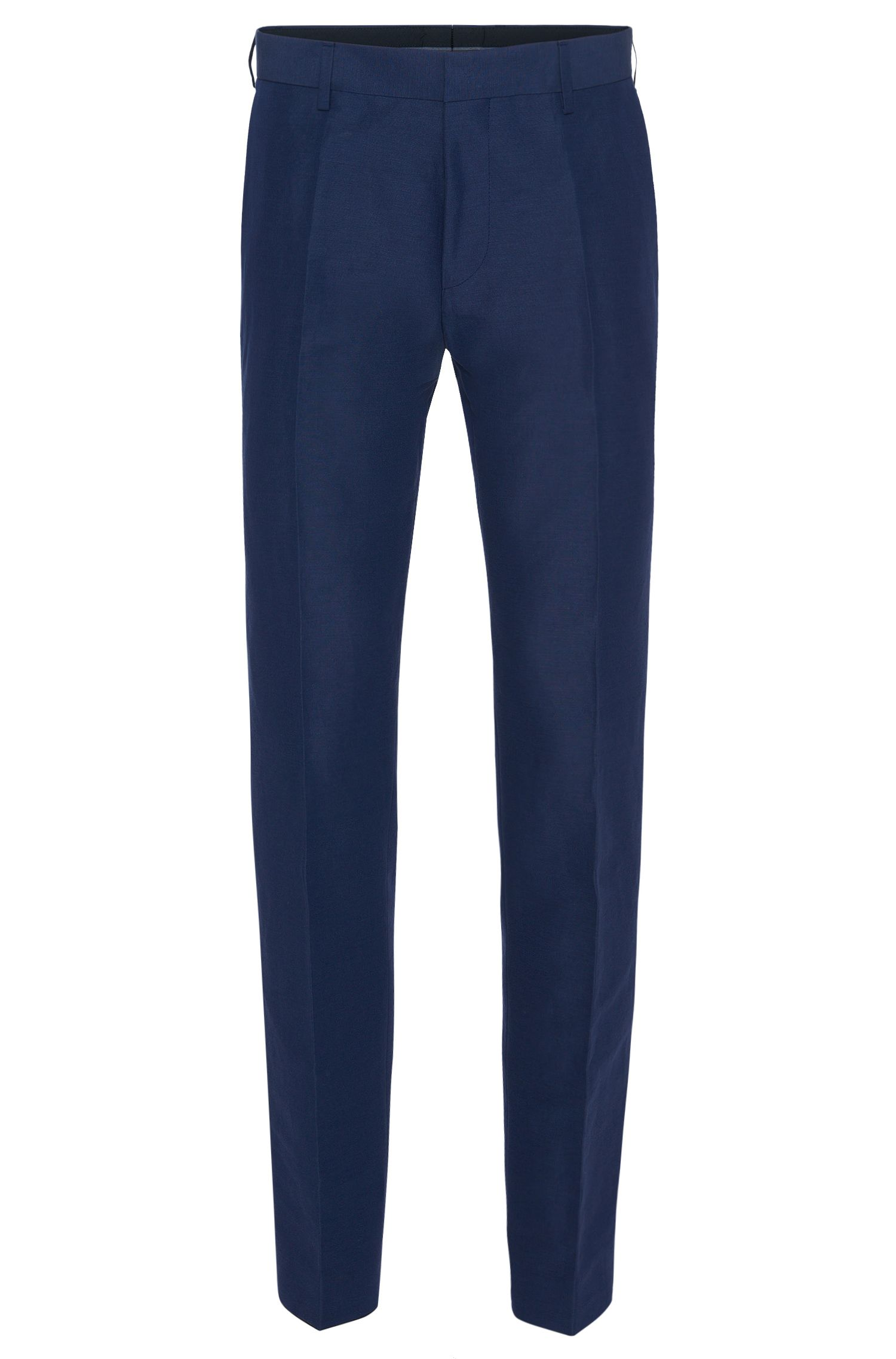 Slim-fit trousers in linen blend with cotton: 'Genesis2'