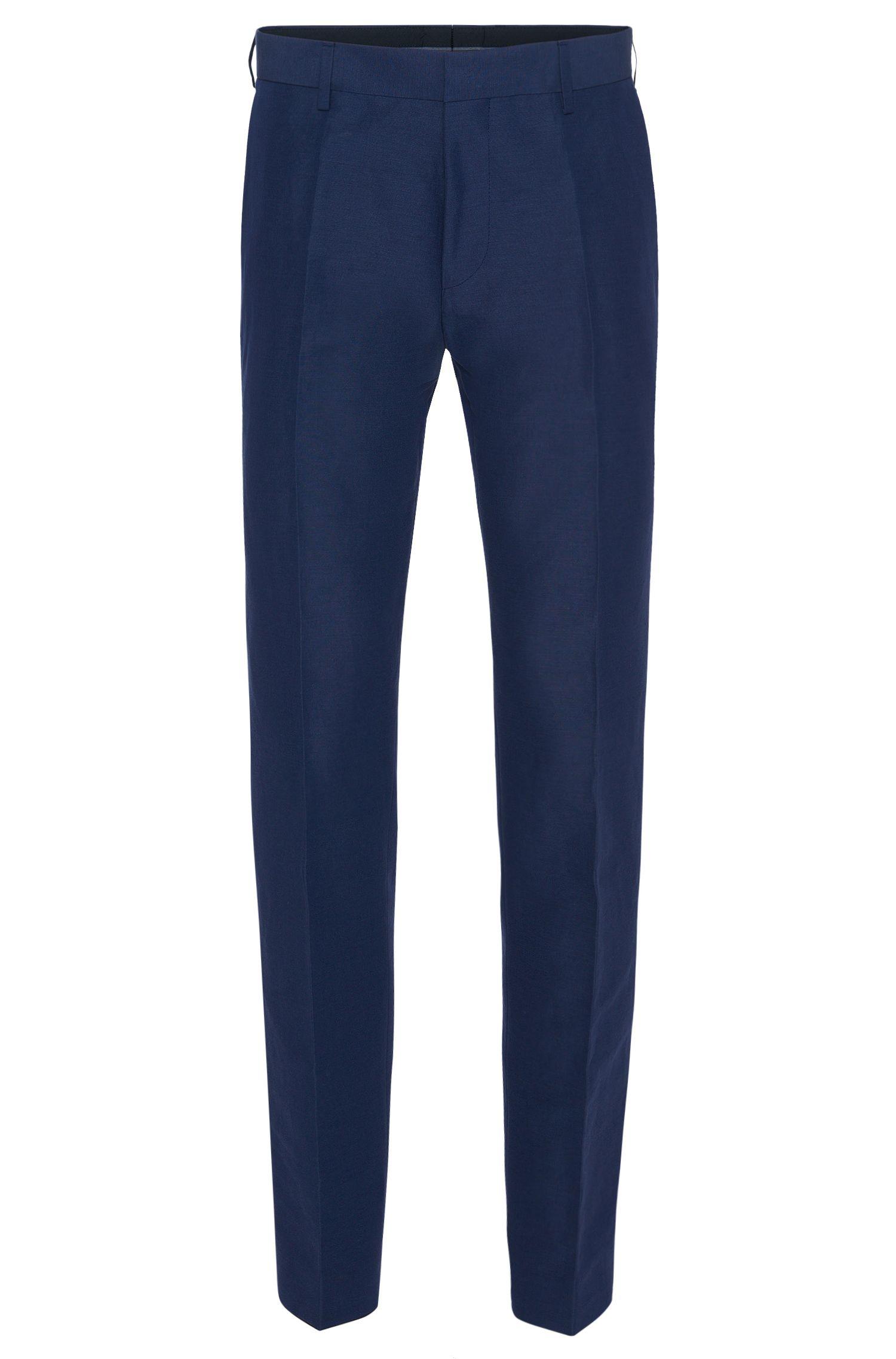 Pantalon Slim Fit en lin mélangé à du coton: «Genesis2»