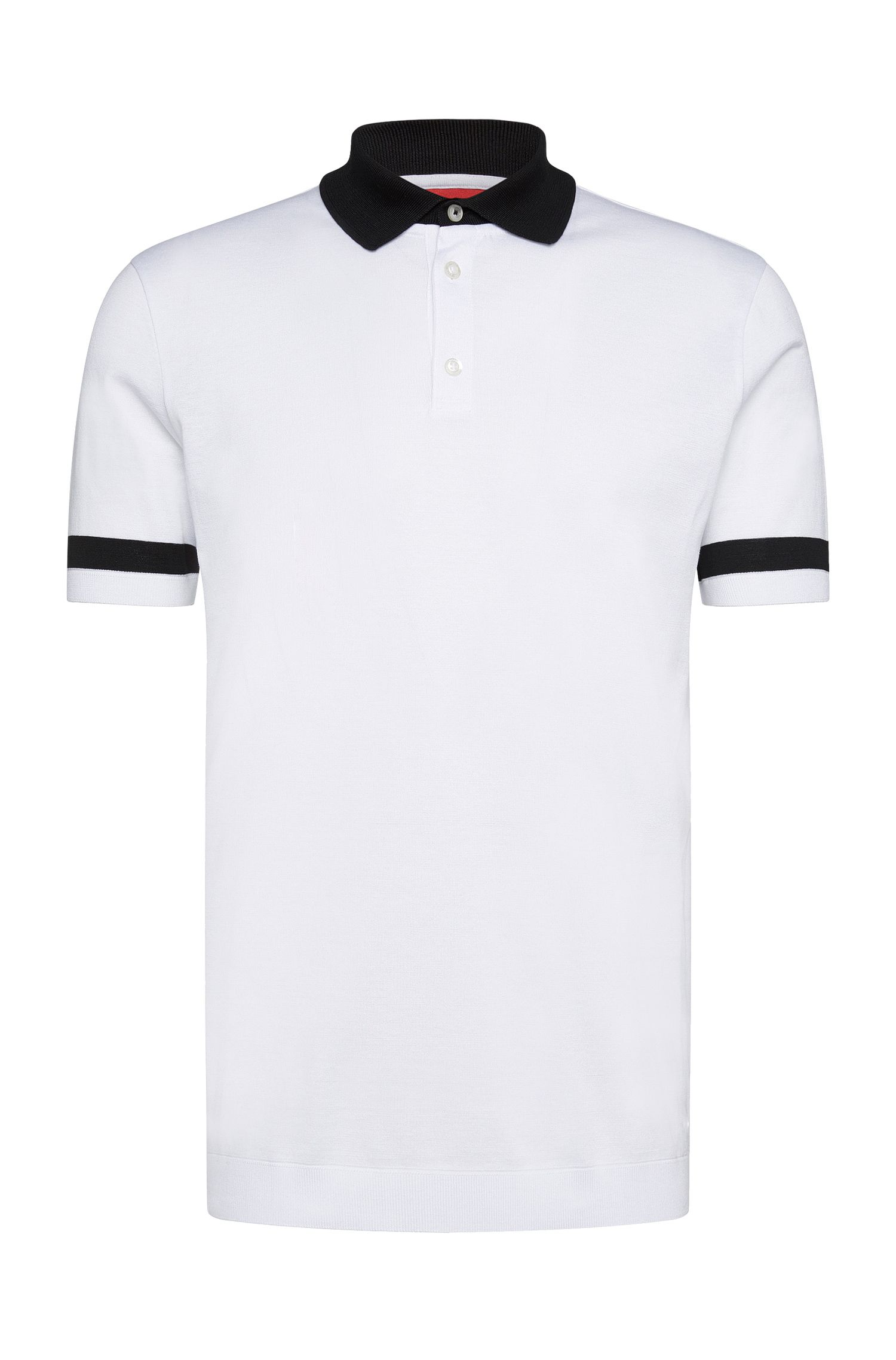 Regular-fit poloshirt van stretchkatoen: 'Dharp'