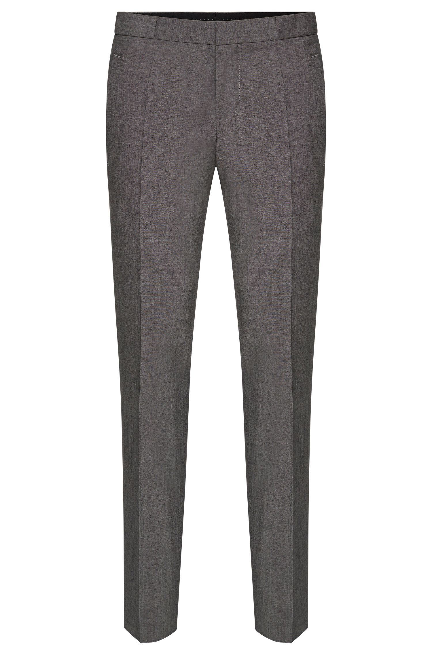 Slim-fit trousers with pressed creases in new-wool blend with mohair: 'Braydon'