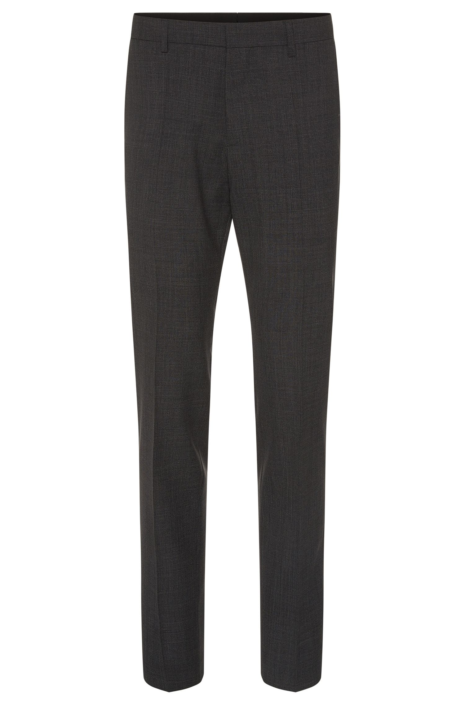Finely checked slim-fit trousers in new wool: 'Genesis2'