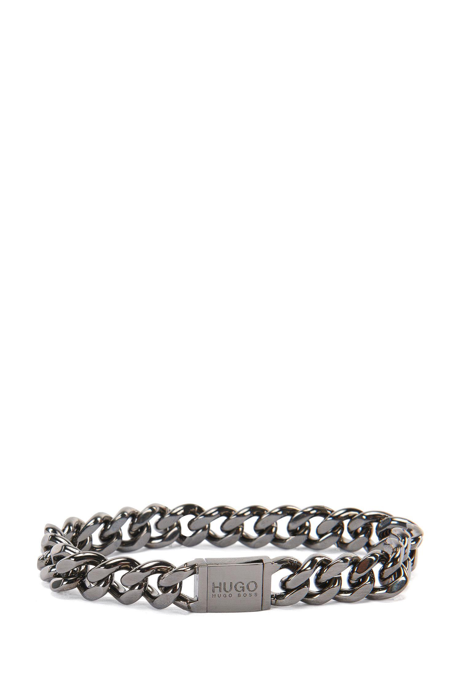 Bracelet in titanium-look brass: 'E-Hugochain'